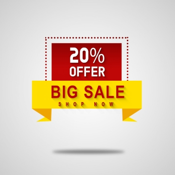 big sale 20% offer tag, Tag, 20%, Offer PNG and PSD