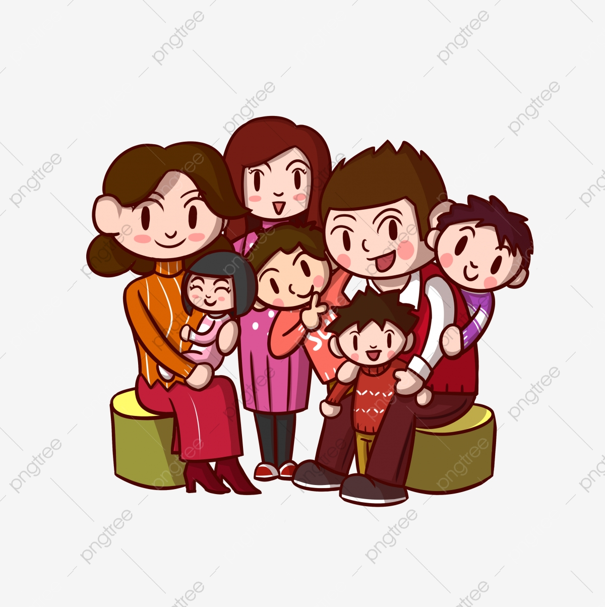 3d Cartoon Family Portrait Cartoon Clipart Family Clipart Family Portrait Png Transparent Clipart Image And Psd File For Free Download