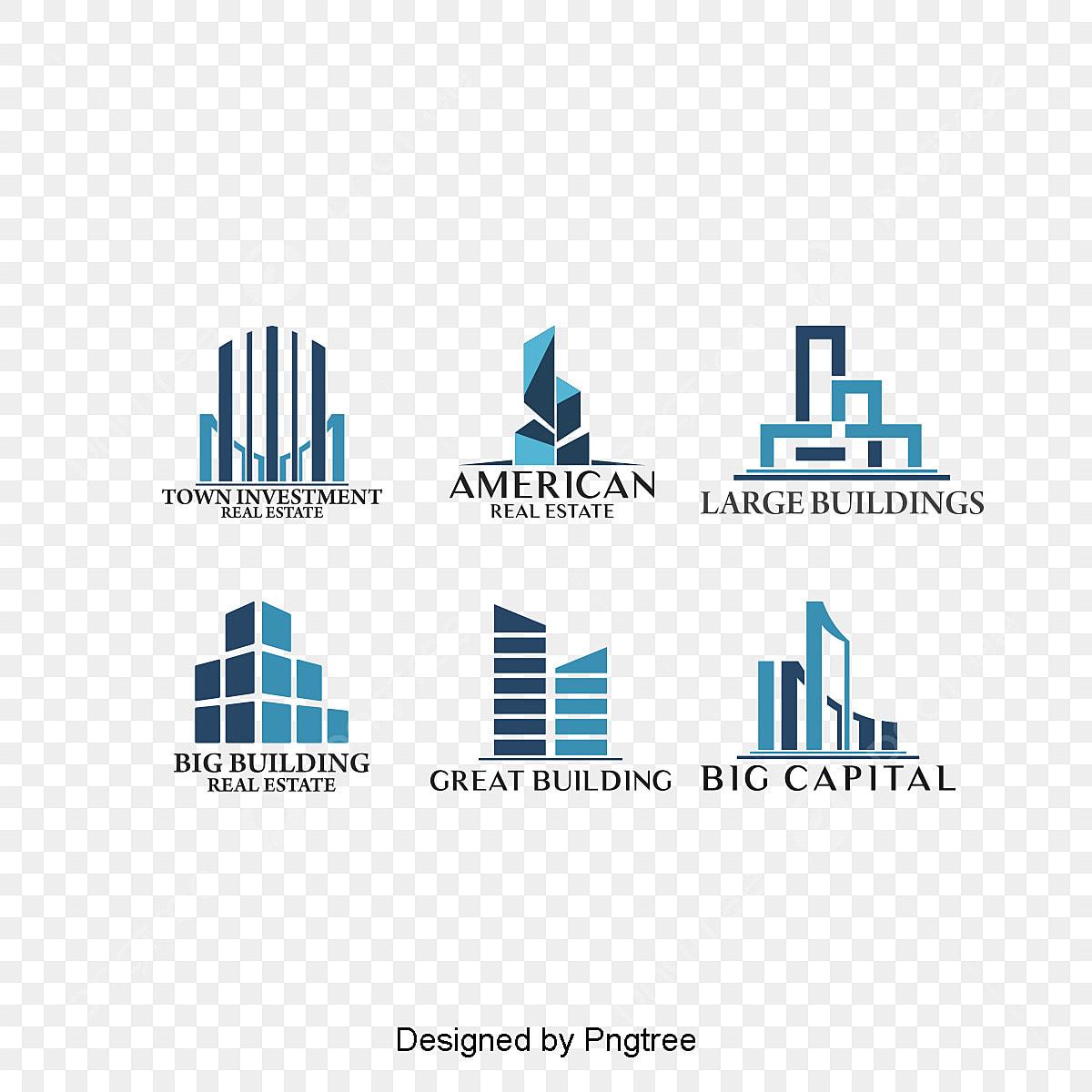 6 Conception De Logo De Batiment Elegant Modele De Conception De Logo Gratuit Mode Construction Icone Fichier Png Et Psd Pour Le Telechargement Libre
