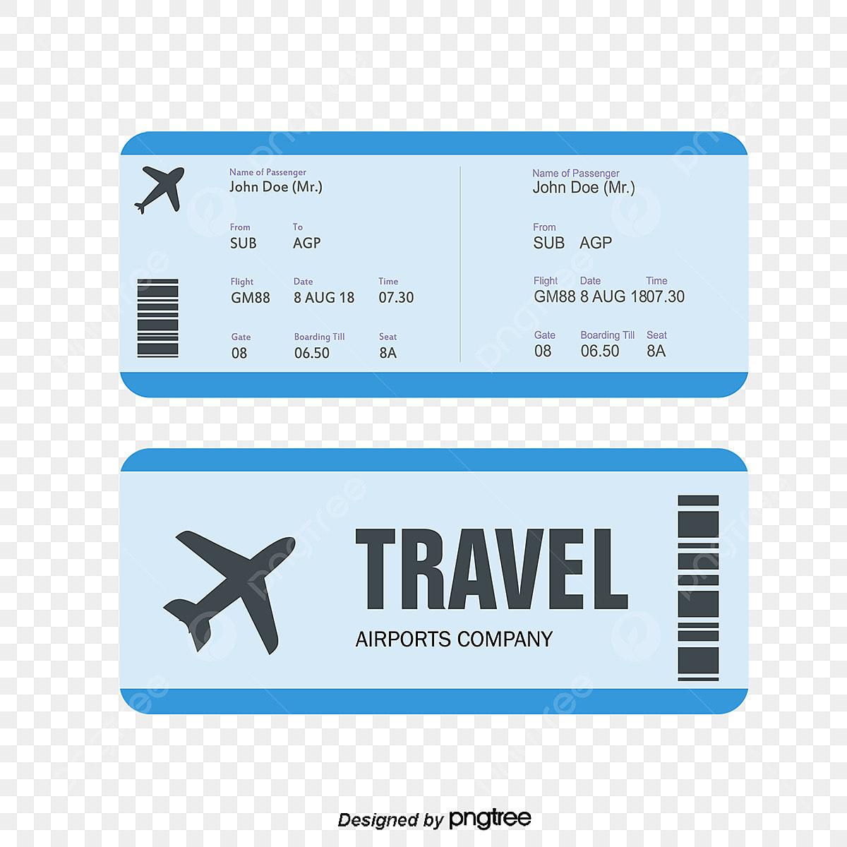 Tiket Penerbangan Vektor Tiket Penerbangan Nota Png Dan Vektor Untuk