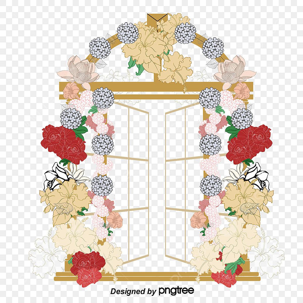 花のアーチを飾って 花飾り イラスト アーチ画像素材の無料ダウンロード