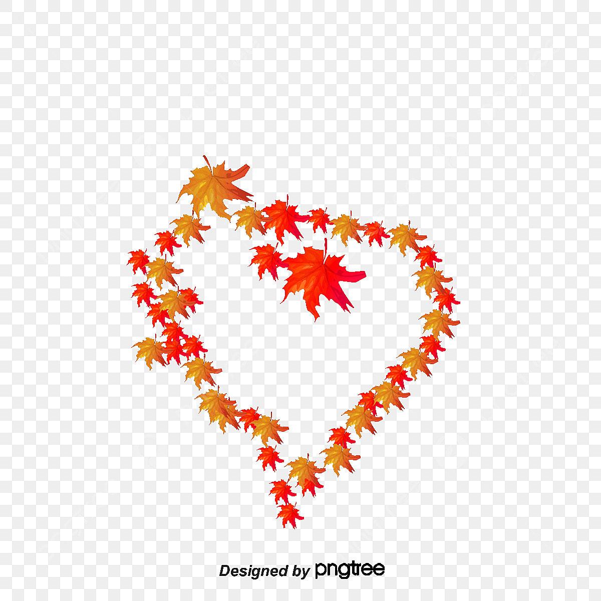 Hojas de oto o de corazon fall hojas coraz n png y vector - Descargar autumn leaves ...