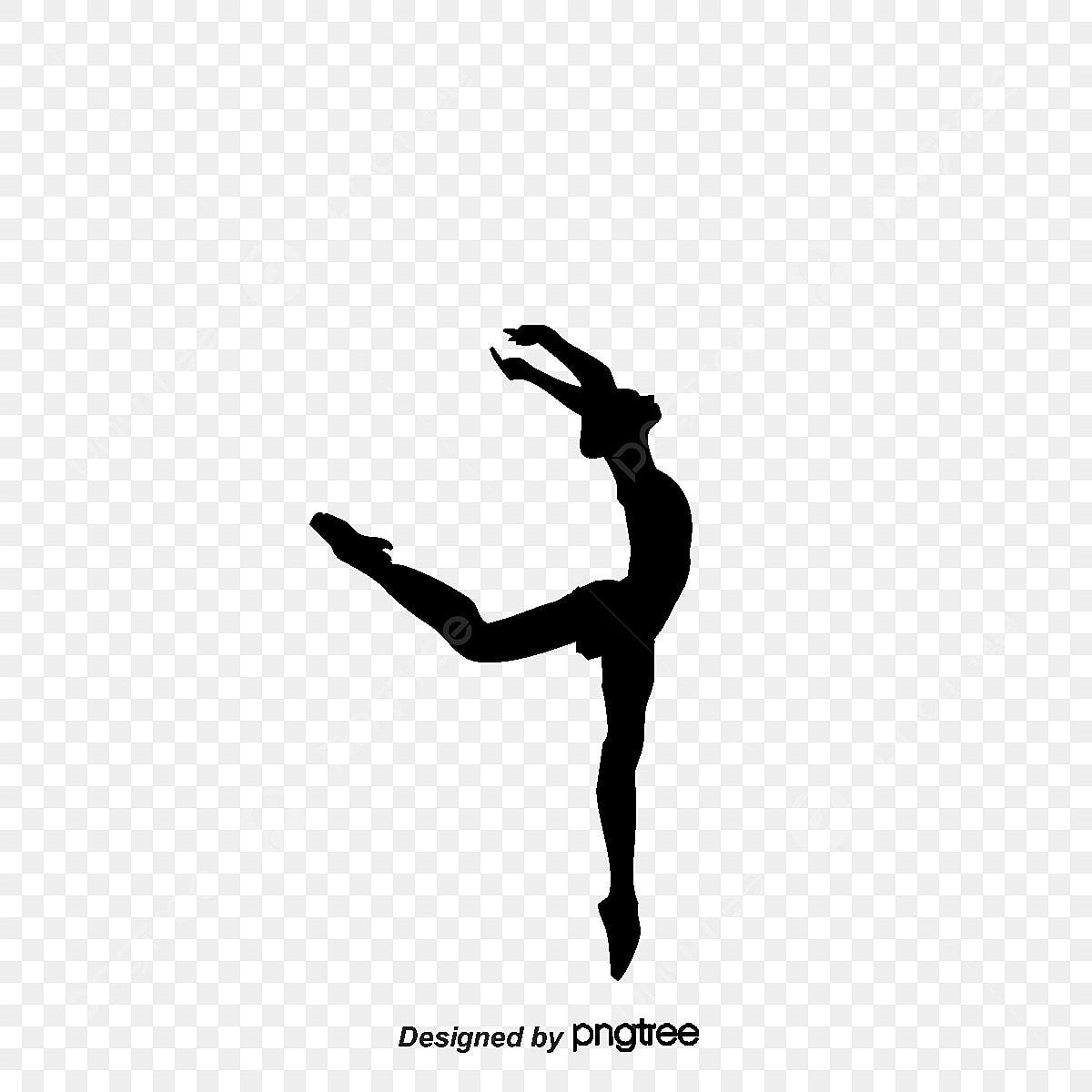 ballerine noir silhouette noir et blanc fichier png et psd pour le t u00e9l u00e9chargement libre