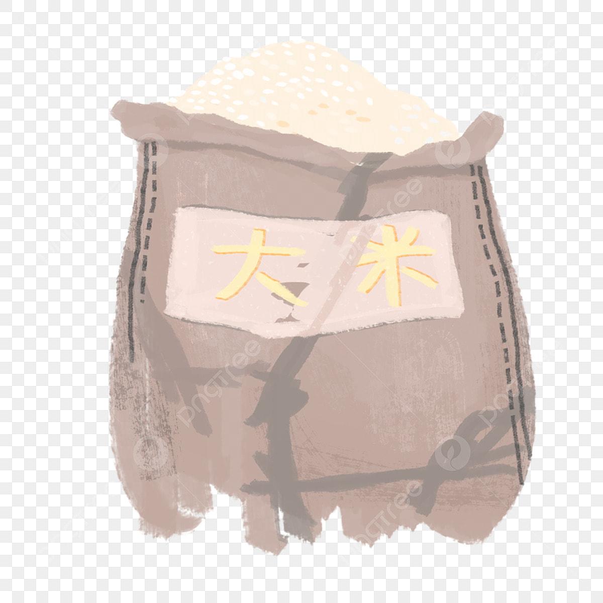 Big Rice Bag Rice Clipart Bag Clipart Rice Png Transparent
