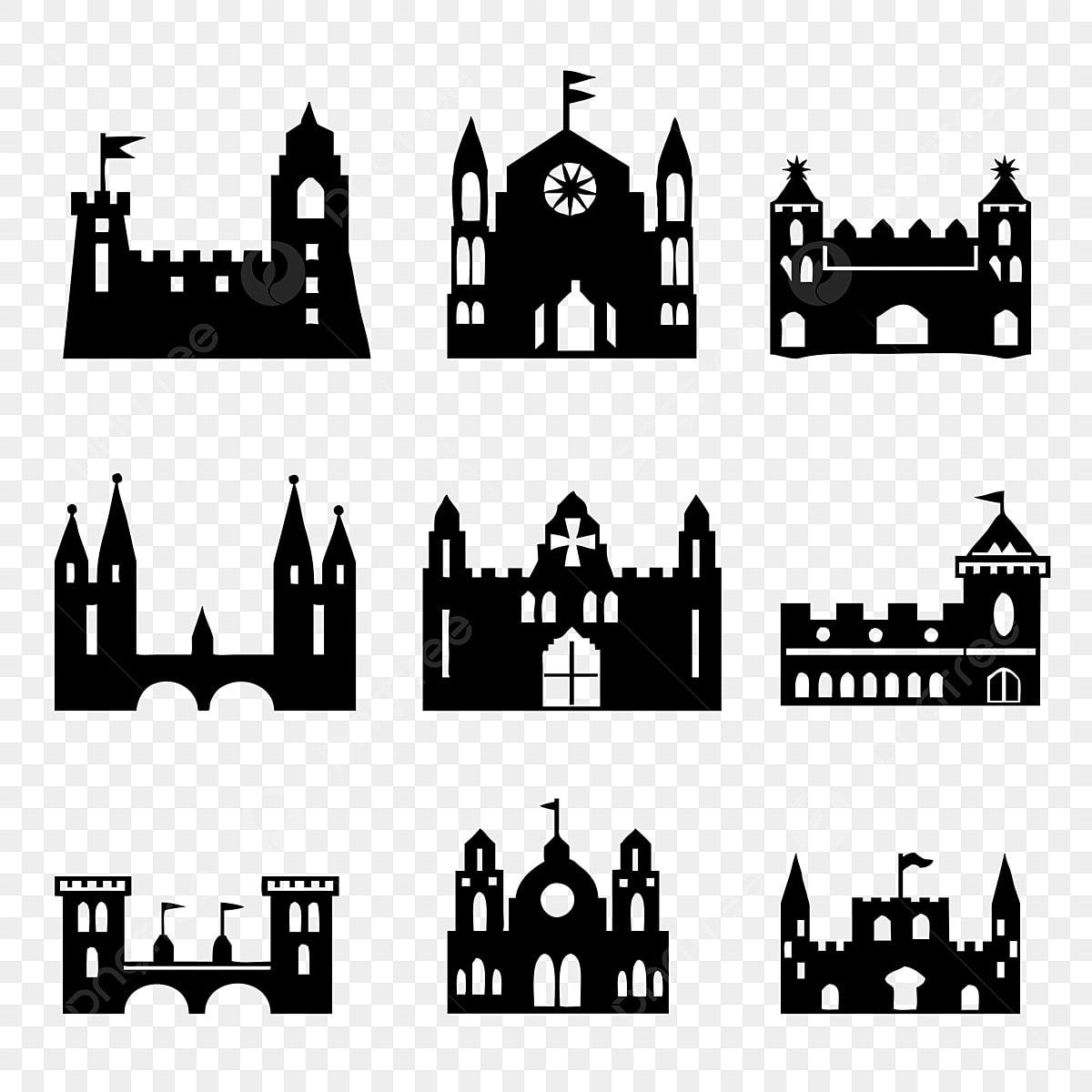 la construction de la silhouette en noir et blanc biens