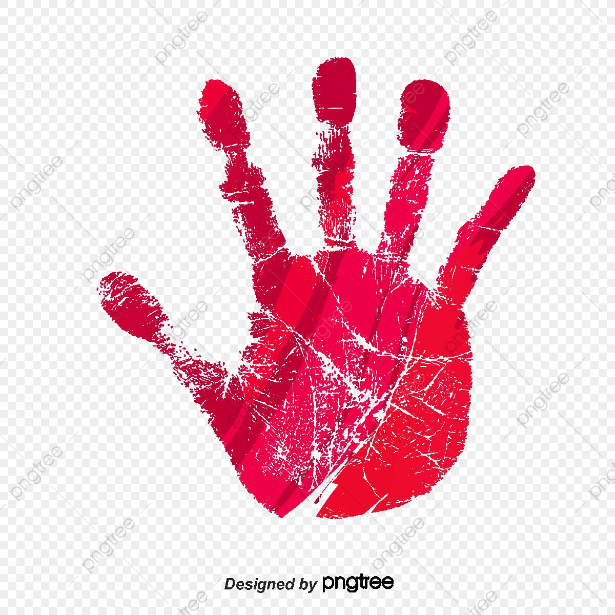 Bloody Hands, Red, Hand Print PNG and Vector with