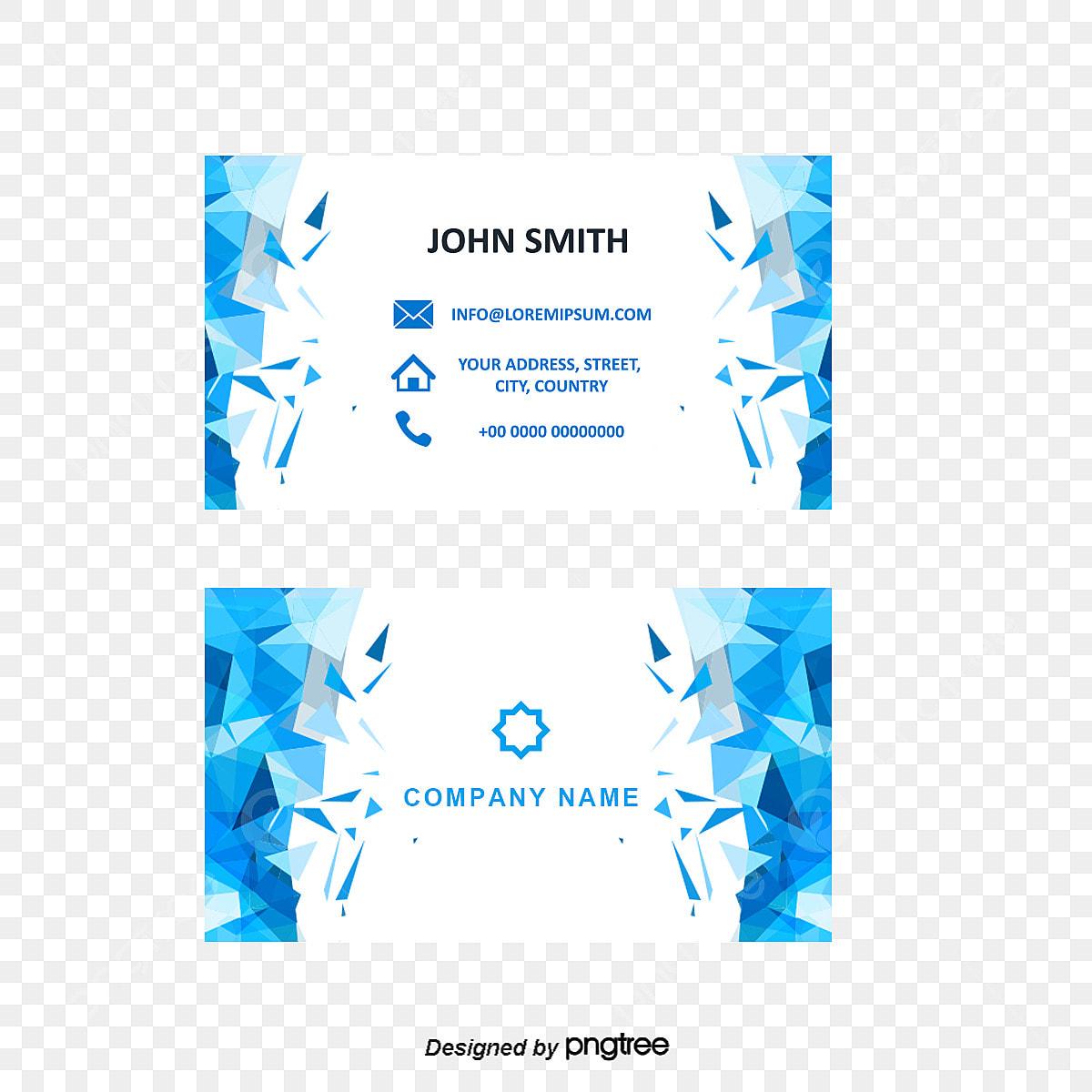 Blaue Farbe Design Material Vektorgrafiken Visitenkarten