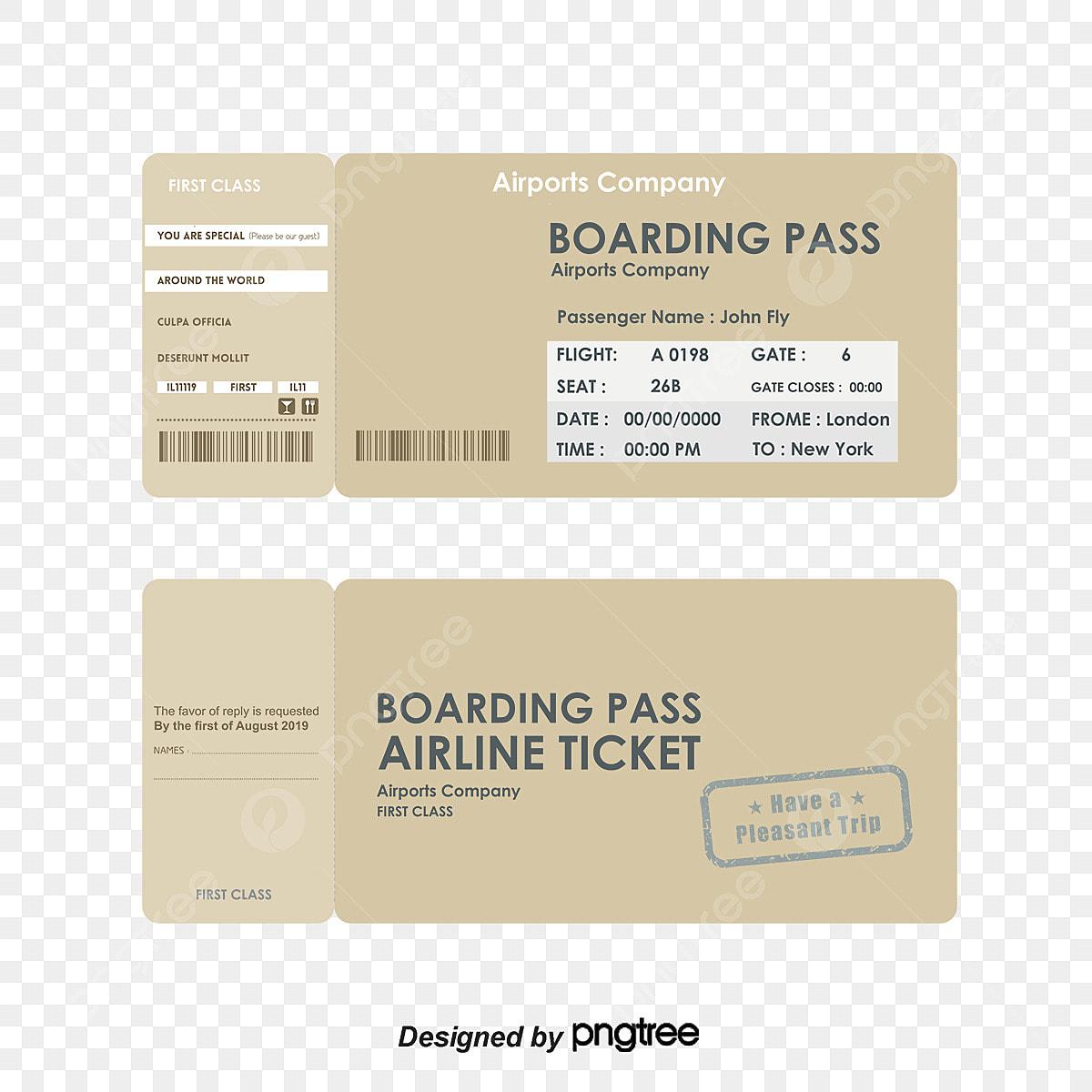 Boarding Pas Dan Dua Dimensi Kod Vektor Bahan Boarding Pass Kod Qr