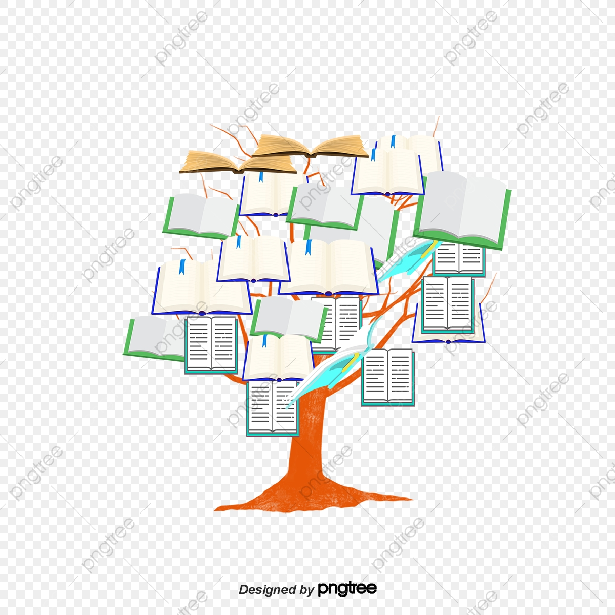 An open book with a tree stock vector. Illustration of leaves - 39485220 |  Open book, Book clip art, White background
