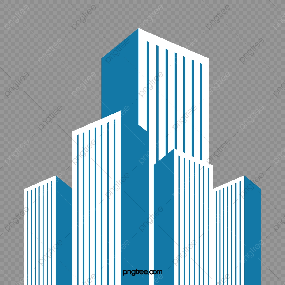 Building Vector, Simple, Blue PNG and Vector with Transparent Background for Free Download