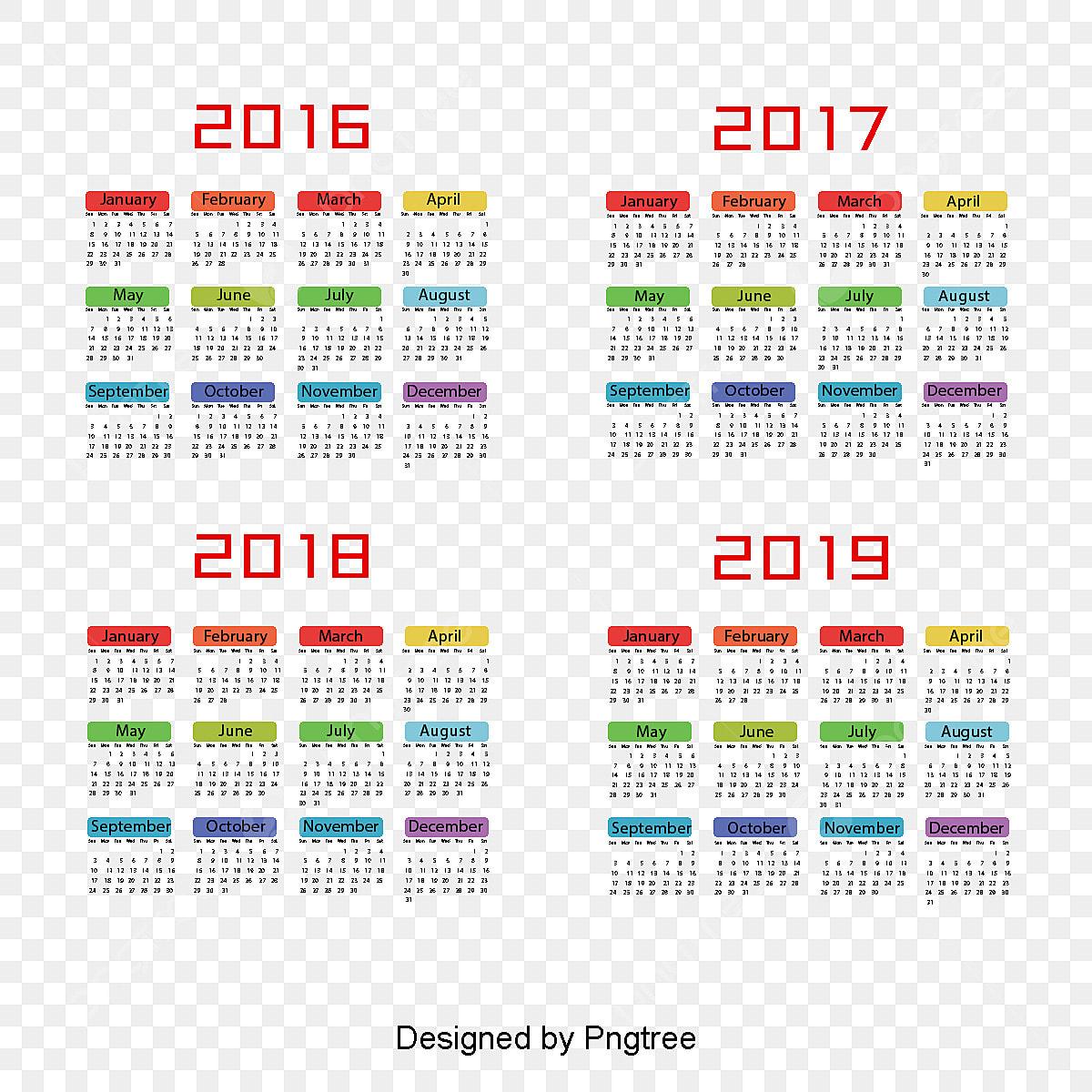 Calendrier Des Feux De L Amour 2019.Calendrier 2017 2018 2019 Fichier Png Et Psd Pour Le