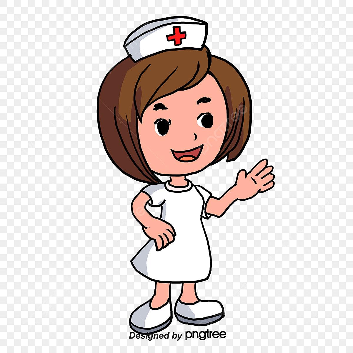 شخصيات كرتونية ممرضة فتاة مواد ديكور Png وملف Psd للتحميل مجانا