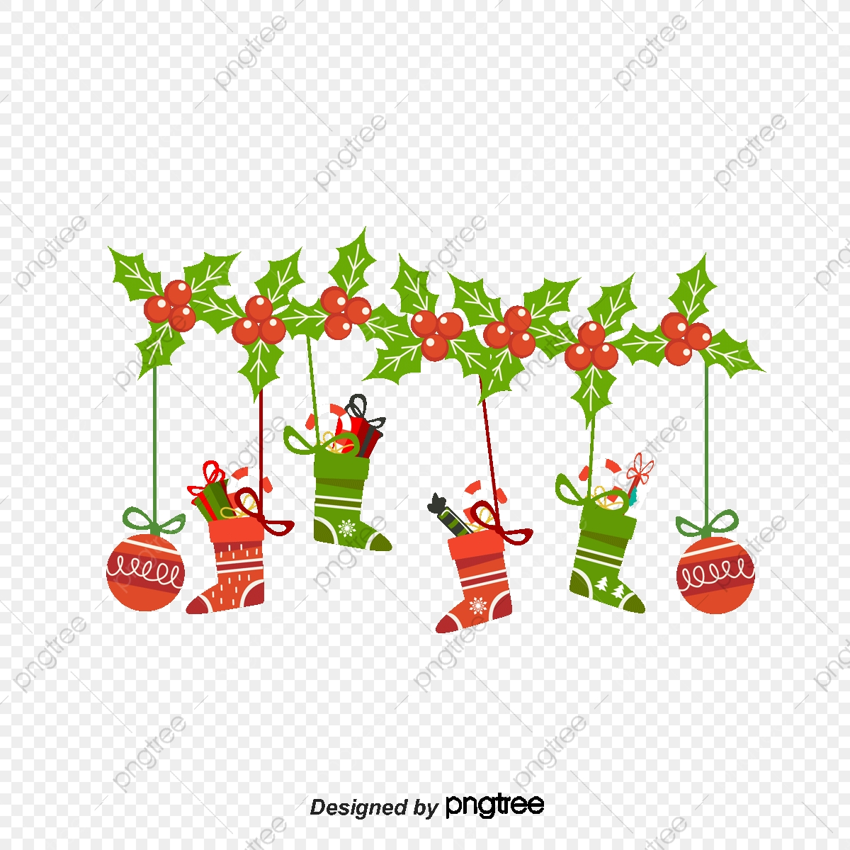 Cartoon Christmas Ornaments Vector Material Cartoon Vector