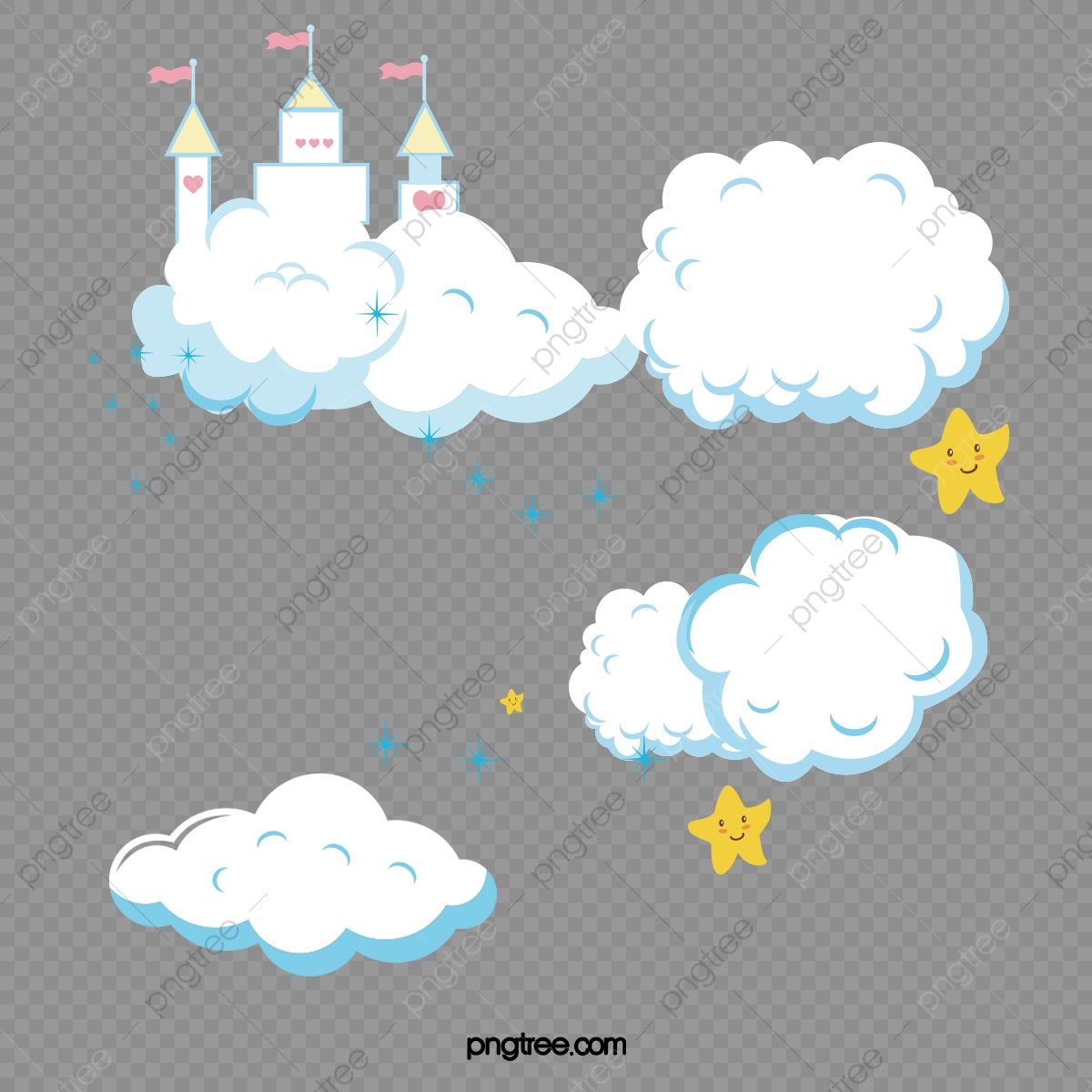 Cartoon Clouds Clouds Baiyun Clouds Png Transparent Clipart Image And Psd File For Free Download