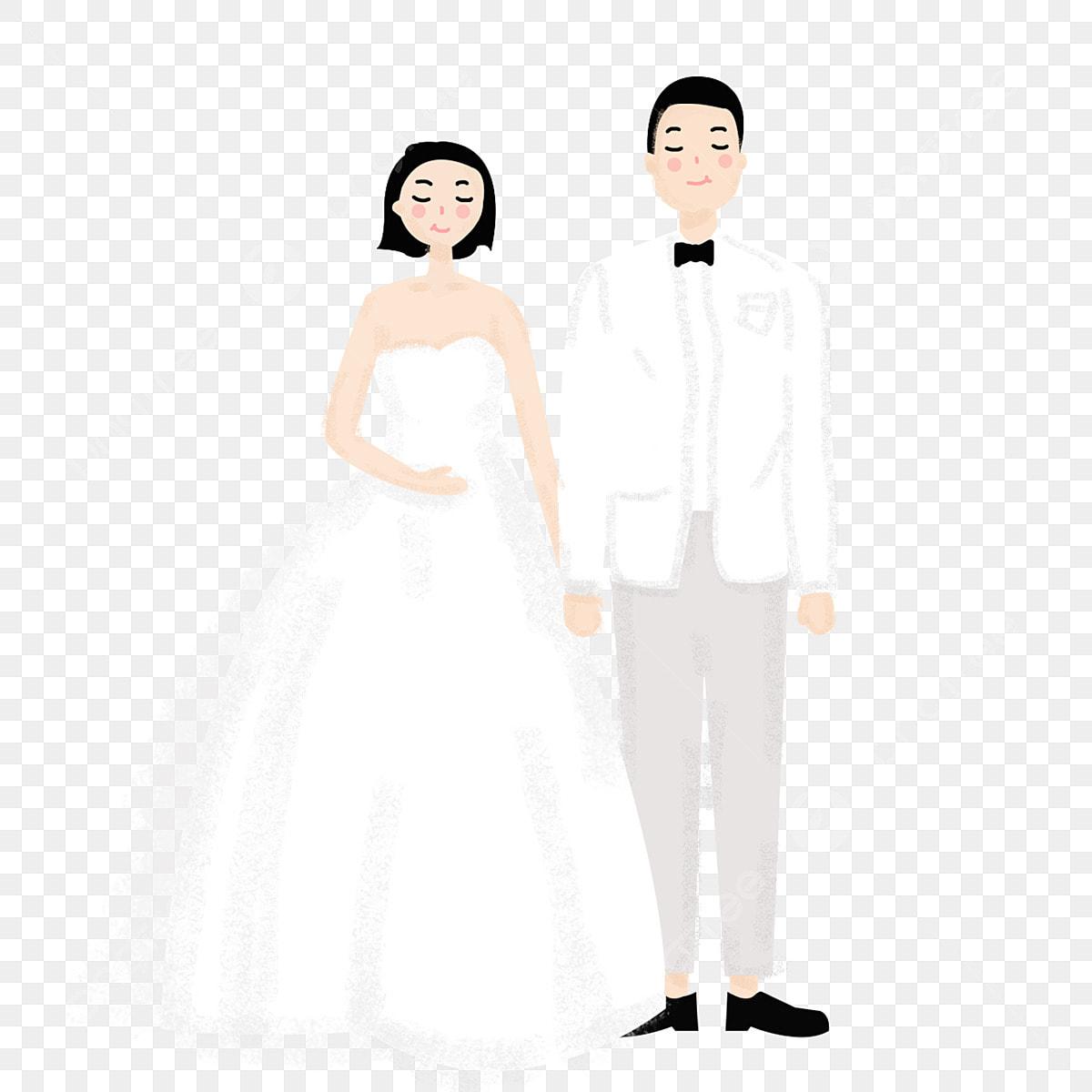 アニメカップルのウェディングドレス キャラクター カップルの