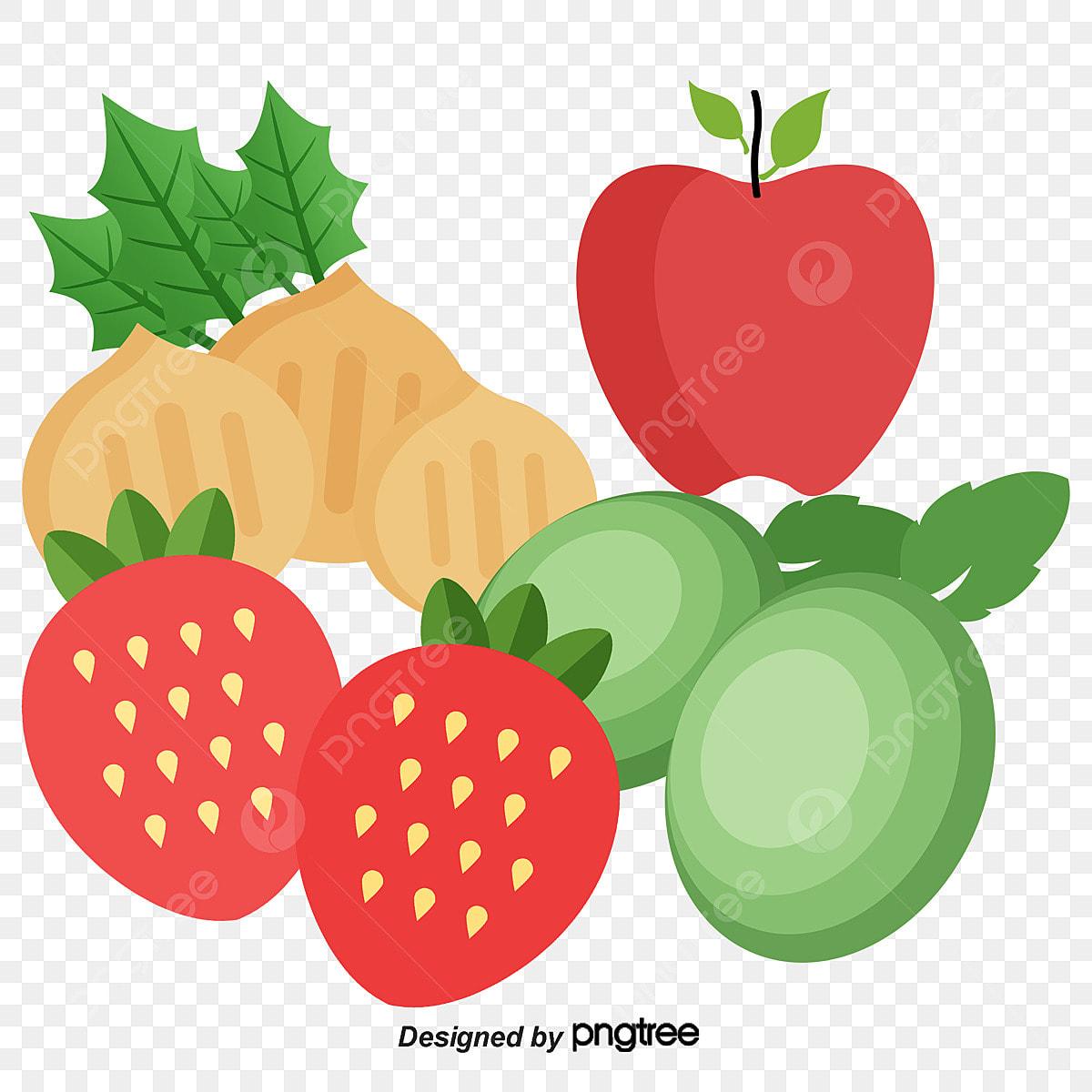 Material De Vetor De Desenhos Animados De Frutas Cartoon Frutas