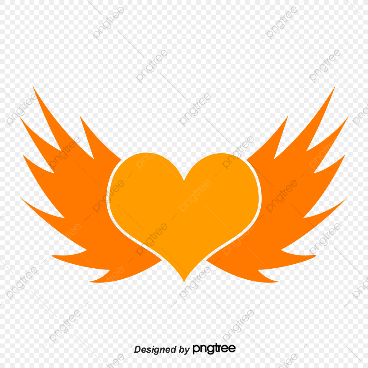 Cartoon Heart Angel Wings Cartoon Heart Angel Png Transparent Clipart Image And Psd File For Free Download