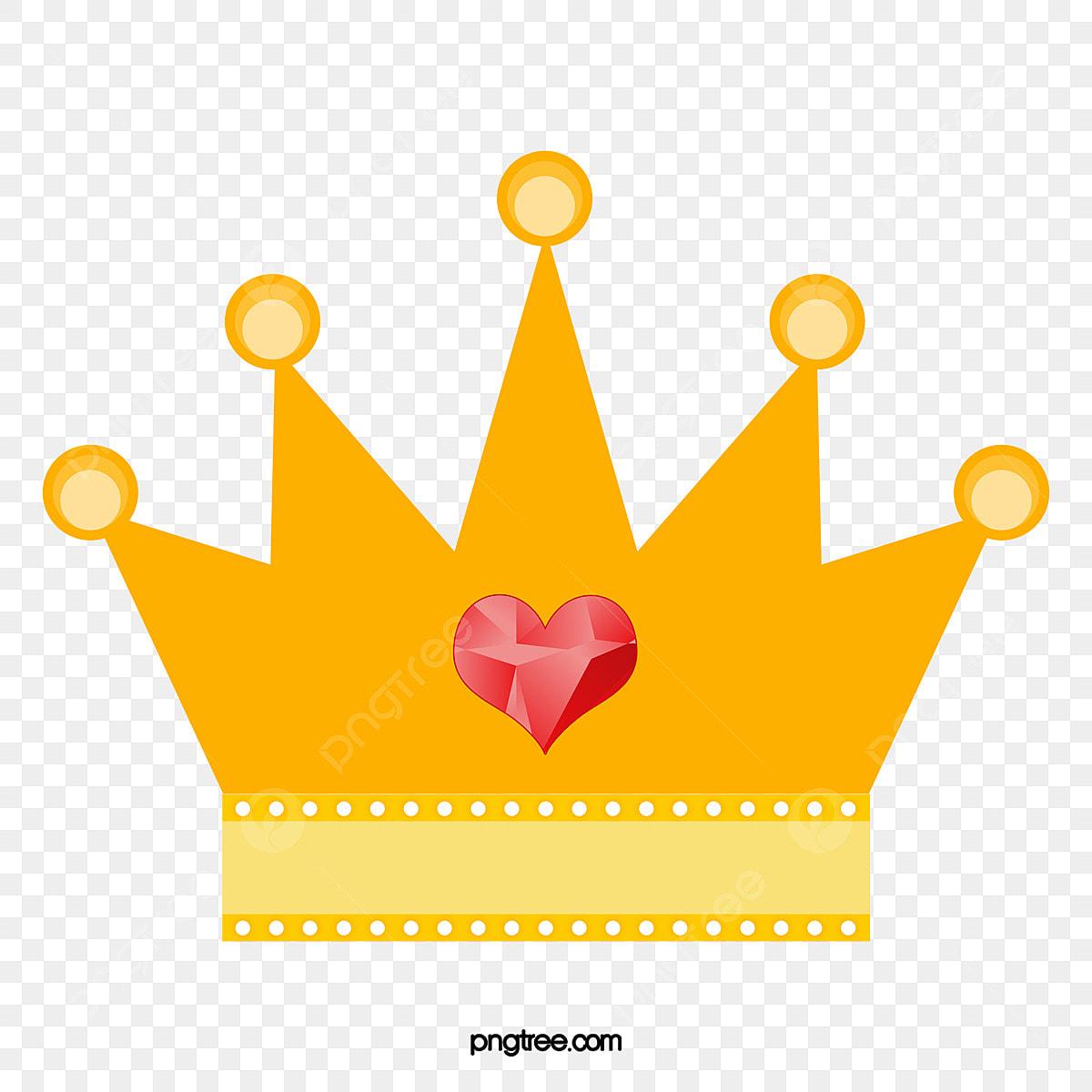 Corona De Princesa De Dibujos Animados Vector Material