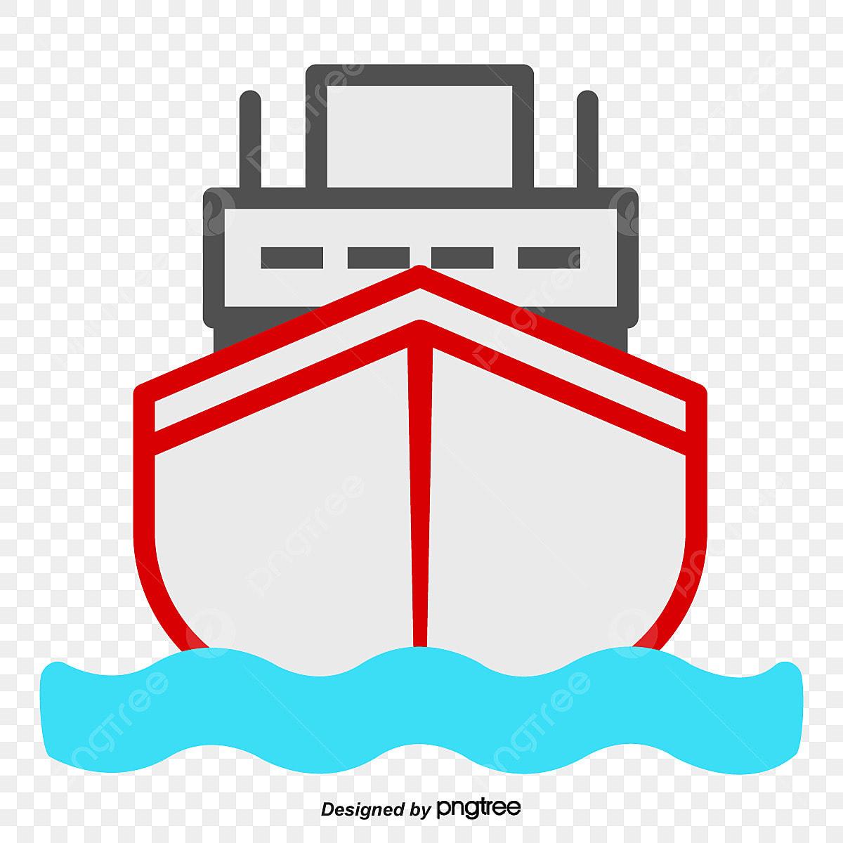 Dessin De Face De Dessin De Navire Bateau La Mer La Mer Png Et Vecteur Pour Telechargement Gratuit