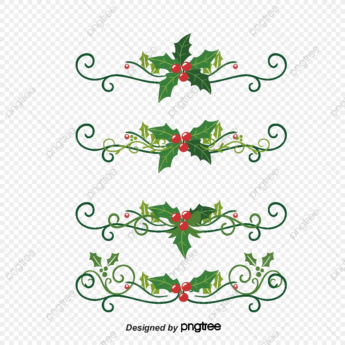 Christmas Holly Vector.Christmas Holly Lace Vector Material Christmas Cornuta