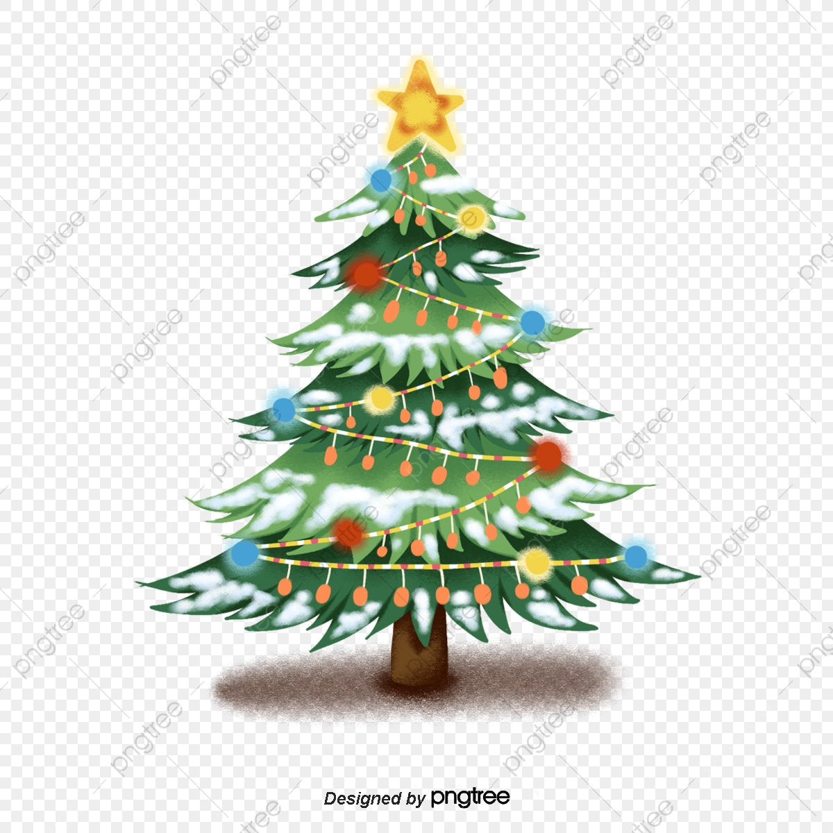 Pretty Clipart Christmas Tree - Simple Christmas Tree Clipart - Free  Transparent PNG Download - PNGkey