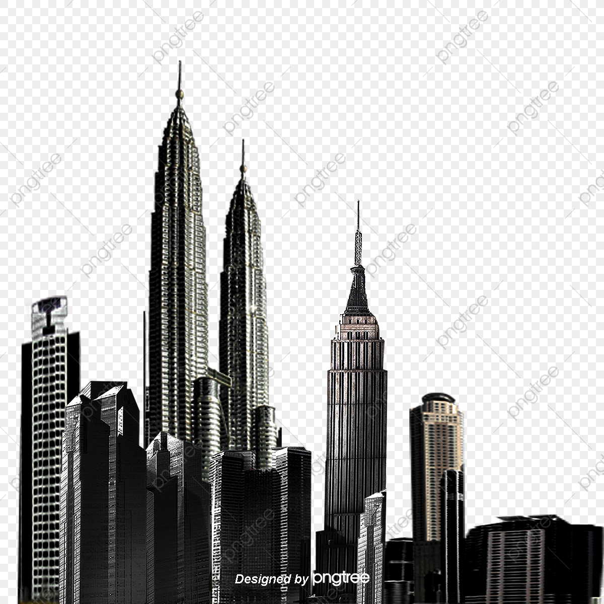 city png image city building vector material, building, city vector