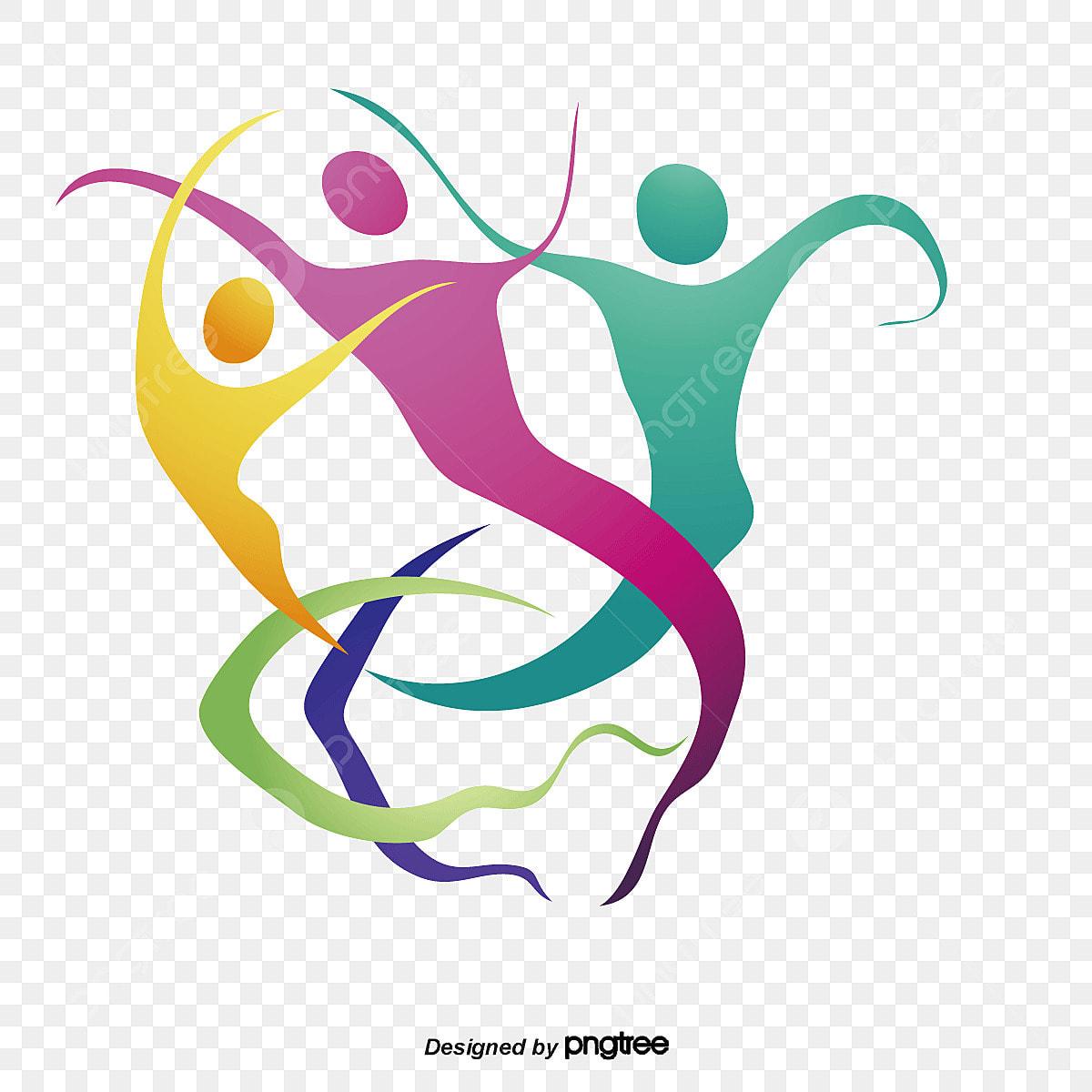 la silhouette de la couleur de la danse couleur