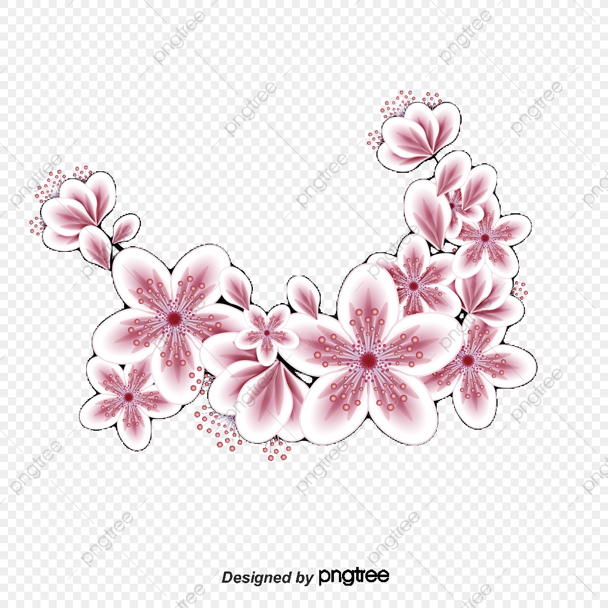 Colorful Flower Pattern Decoration Vector Material Flower Vector