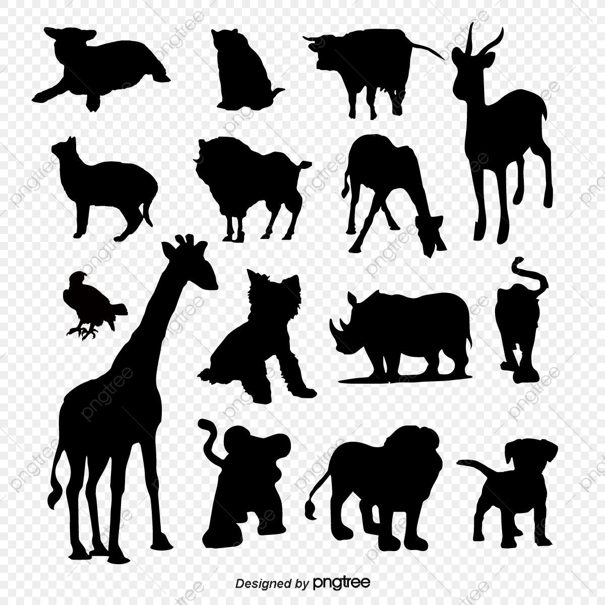 Creative Animal Silhouettes Lion King Animal Vector Animal Silhouettes Sketch Png And Vector With Transparent Background For Free Download