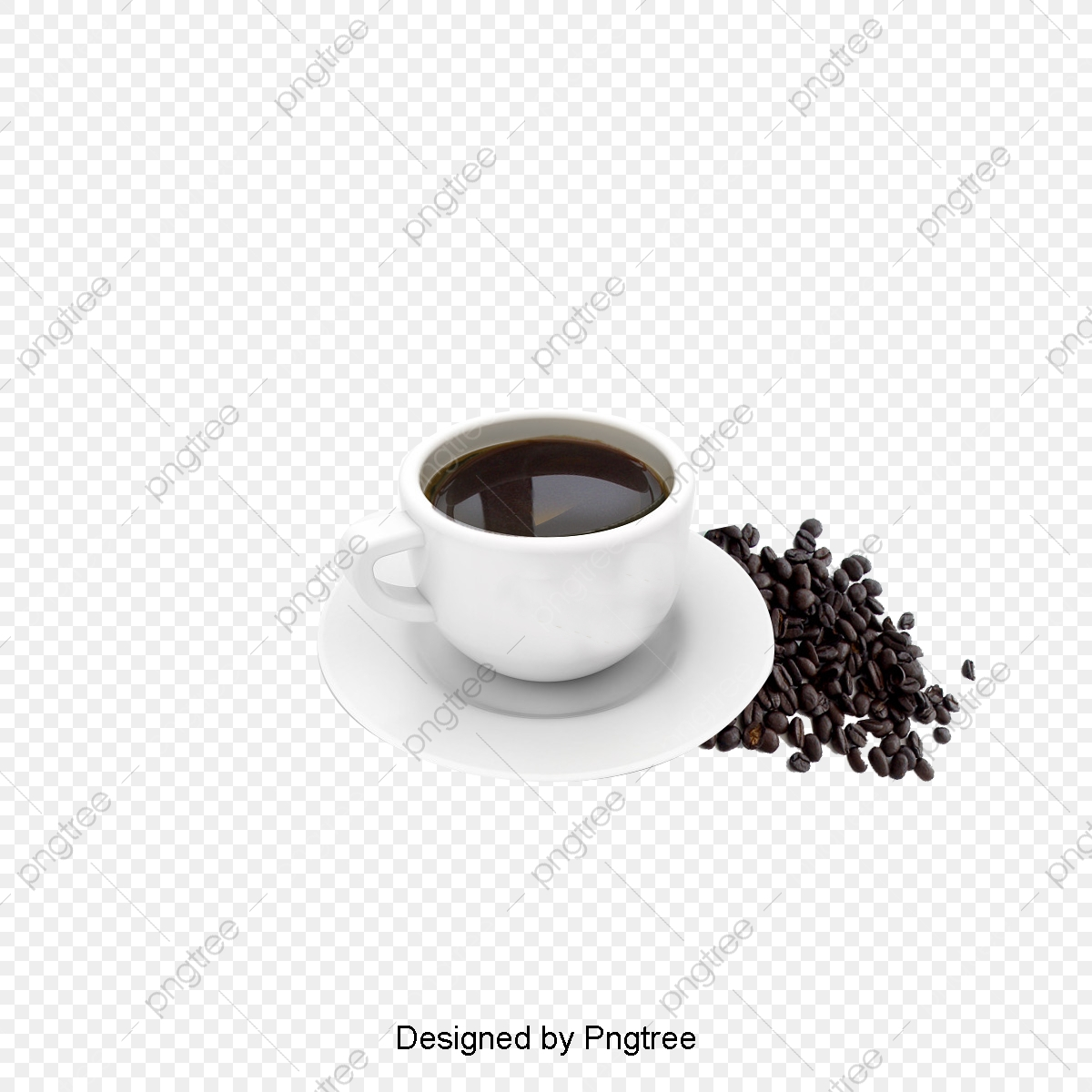 Cup Of Coffee Beans, Cup Clipart, Coffee Beans, Mug PNG