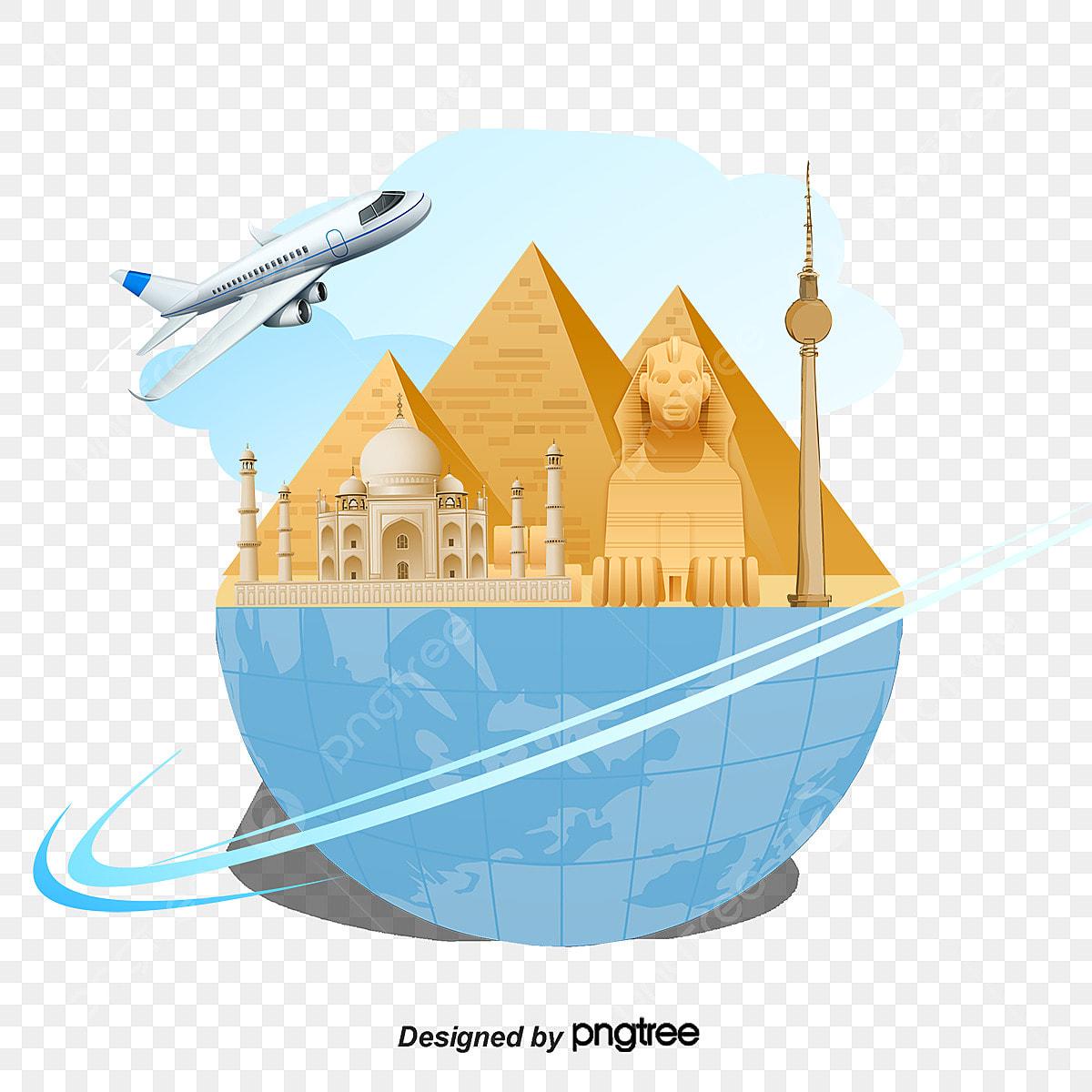 d u00e9coration architecturale des attractions de l  u00c9gypte d u00e9coration vecteur le tourisme png et