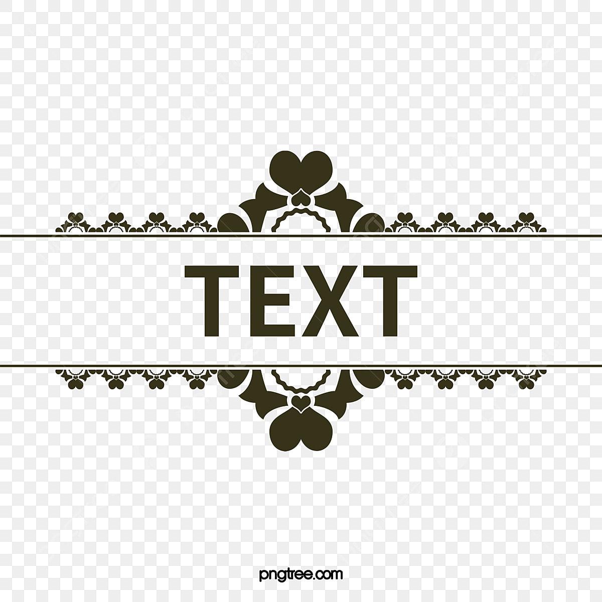 Decorative Title Text Box Title Decoration Text Box Png