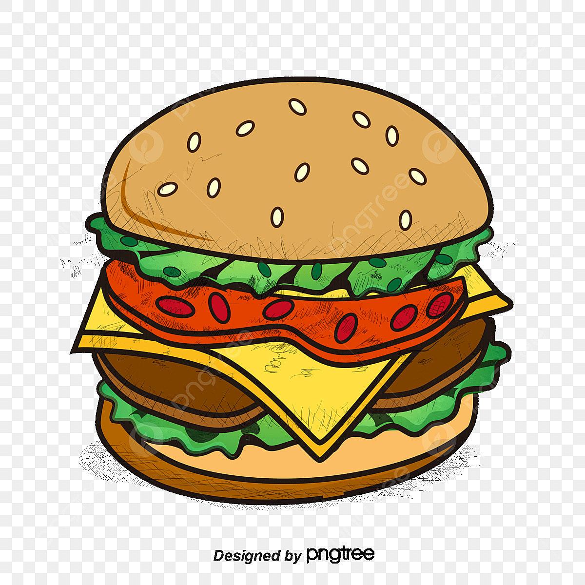 Delicious Burgers Vector Hamburger Gourmet Burgers Cartoon