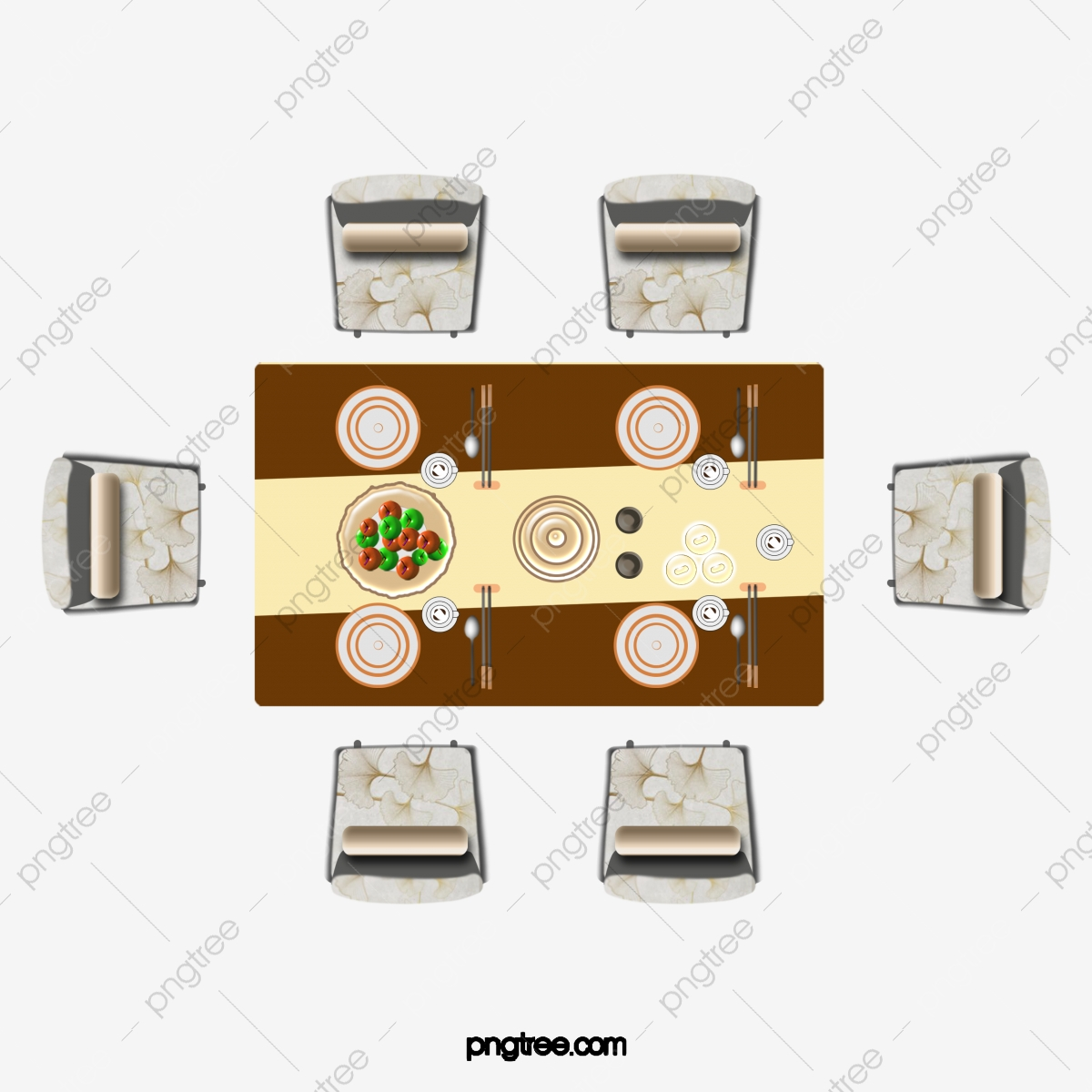 Dining Table Top View PNG Images   Vector and PSD Files   Free ...