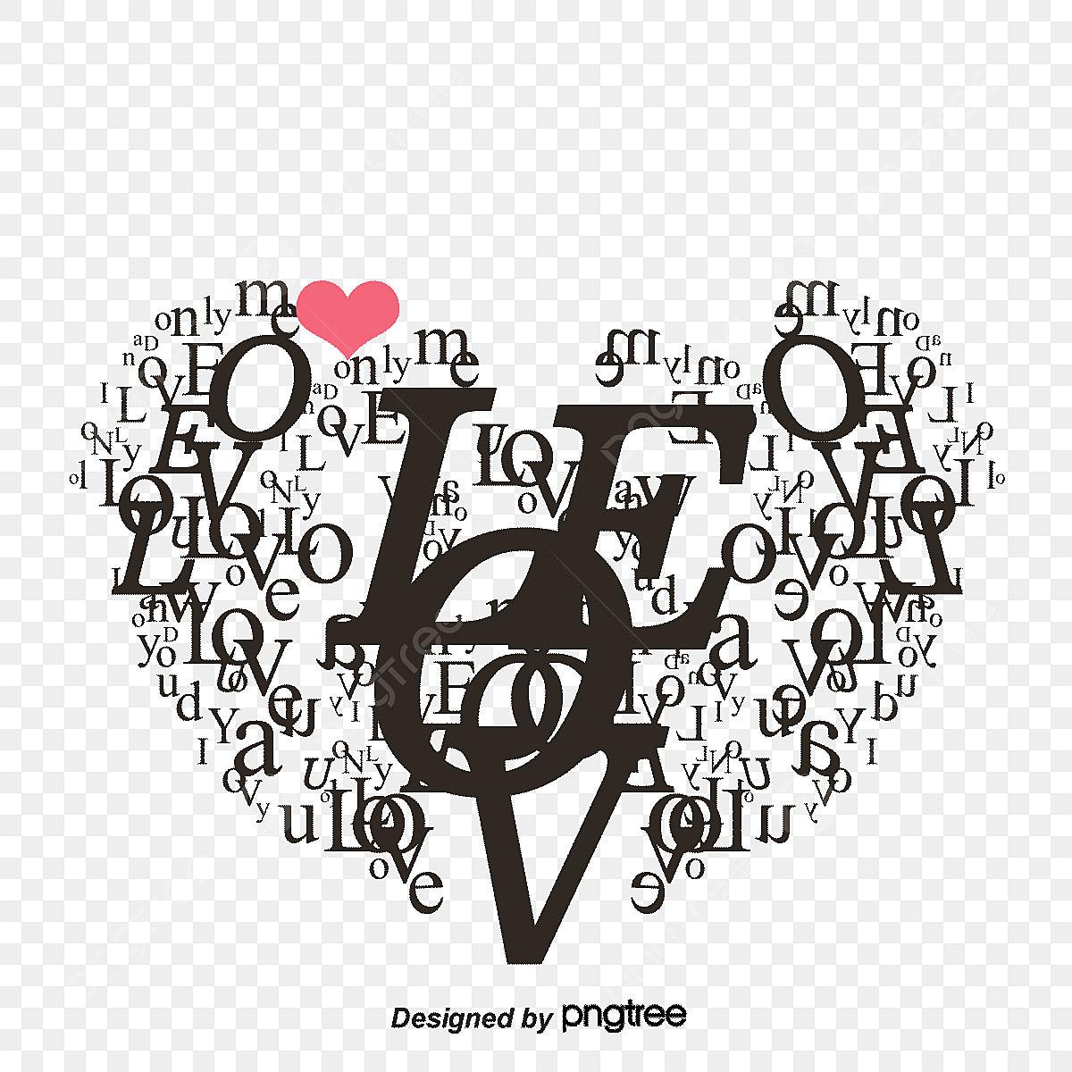 Des Lettres De L Alphabet De Dessin En Forme De Coeur De La