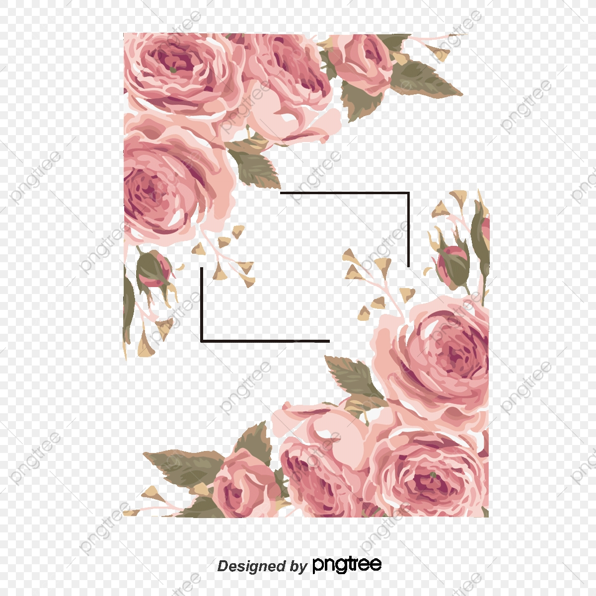 Floral Decoration Corner Flower Floral Vector Decoration