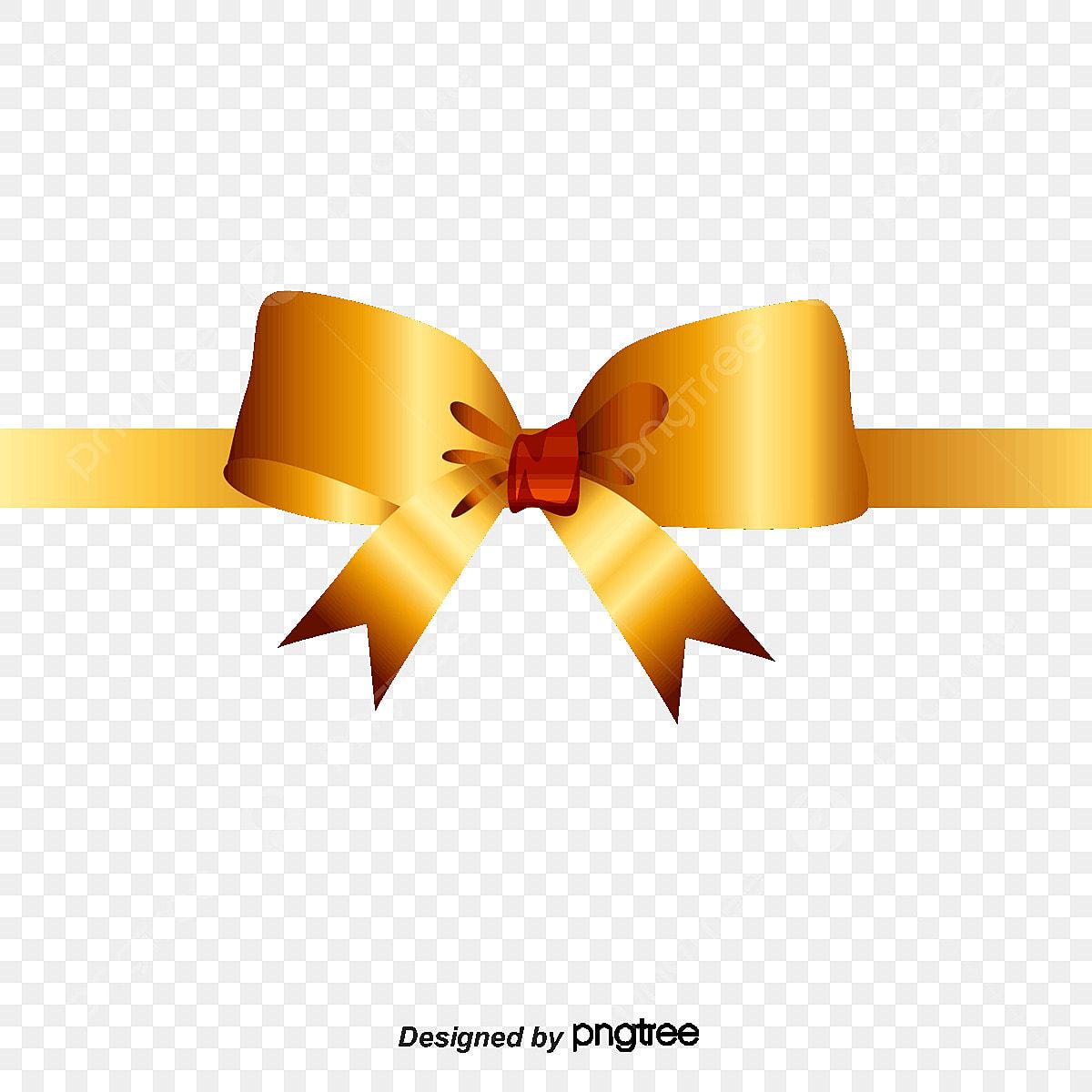 un arc d or ruban ruban or png et vecteur pour t u00e9l u00e9chargement gratuit