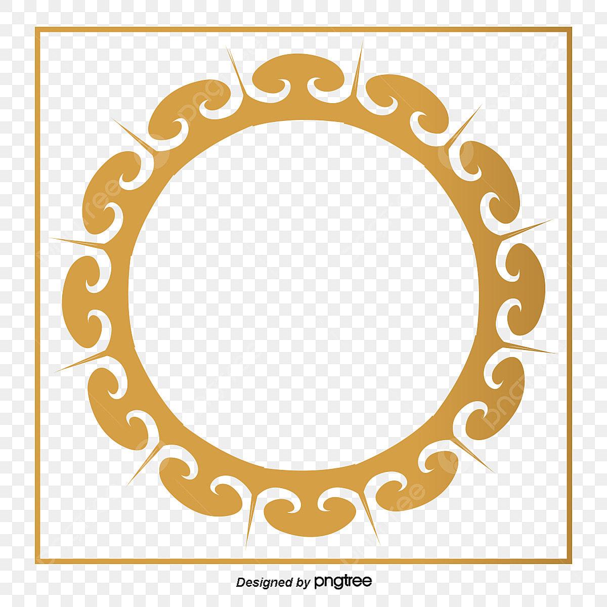 Png اطارات للتصميم مفرغه ذهبي