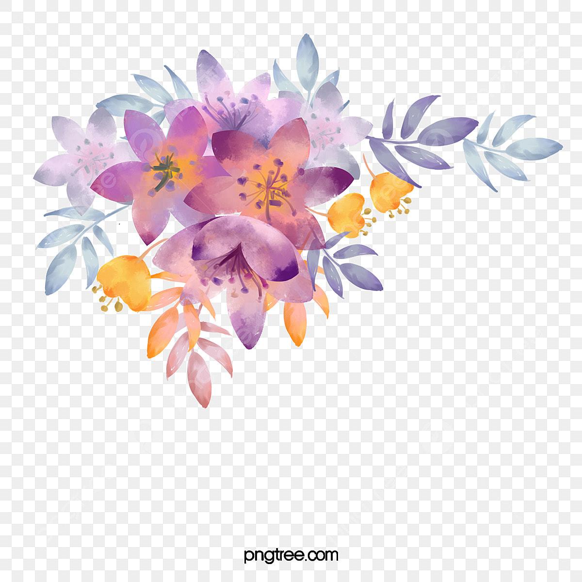 Material De Pintura A Guache Aquarela De Flores Românticas