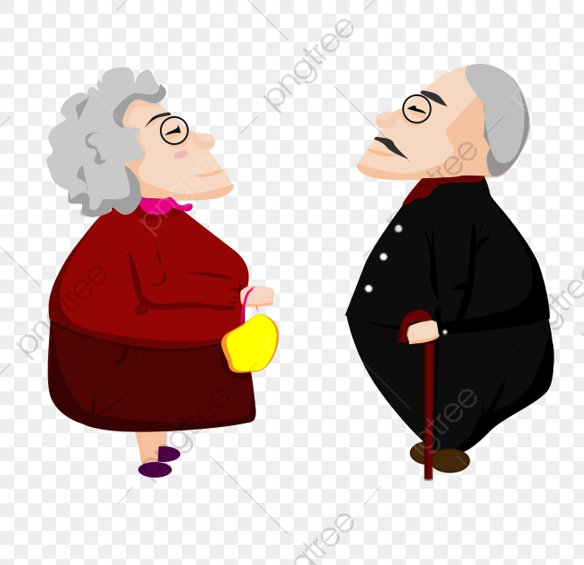 無料ダウンロードのためのおじいさんとおばあさん キャラクター イラスト