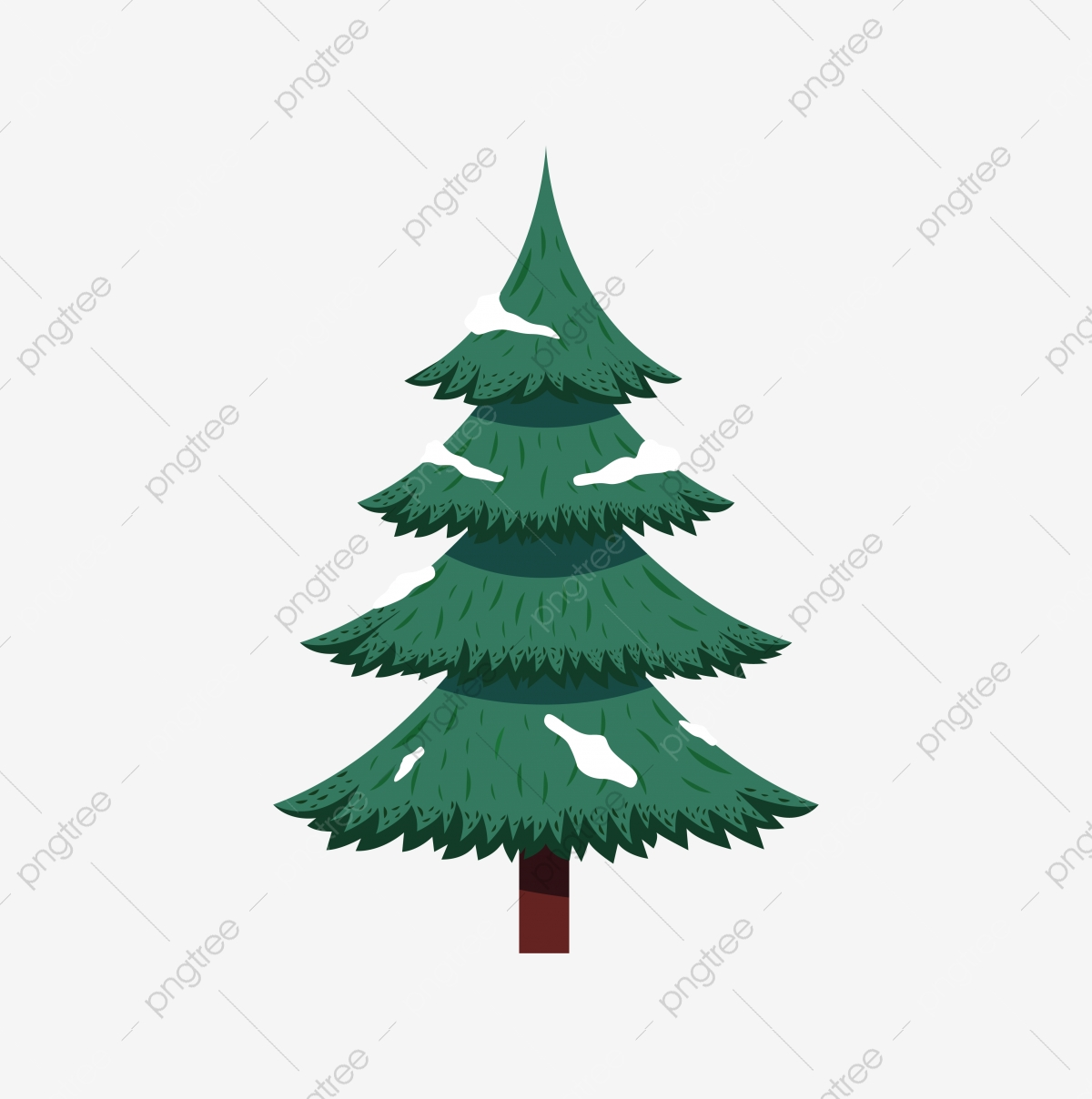 Snow tree. Green christmas with clipart