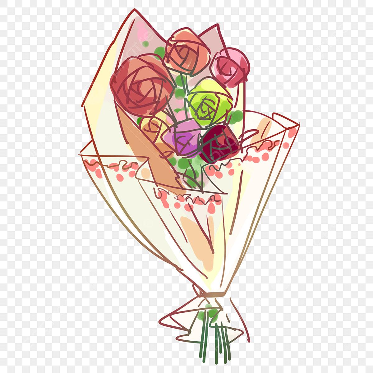 無料ダウンロードのための手描きのバラ挿画イラスト 赤いバラは赤いバラ