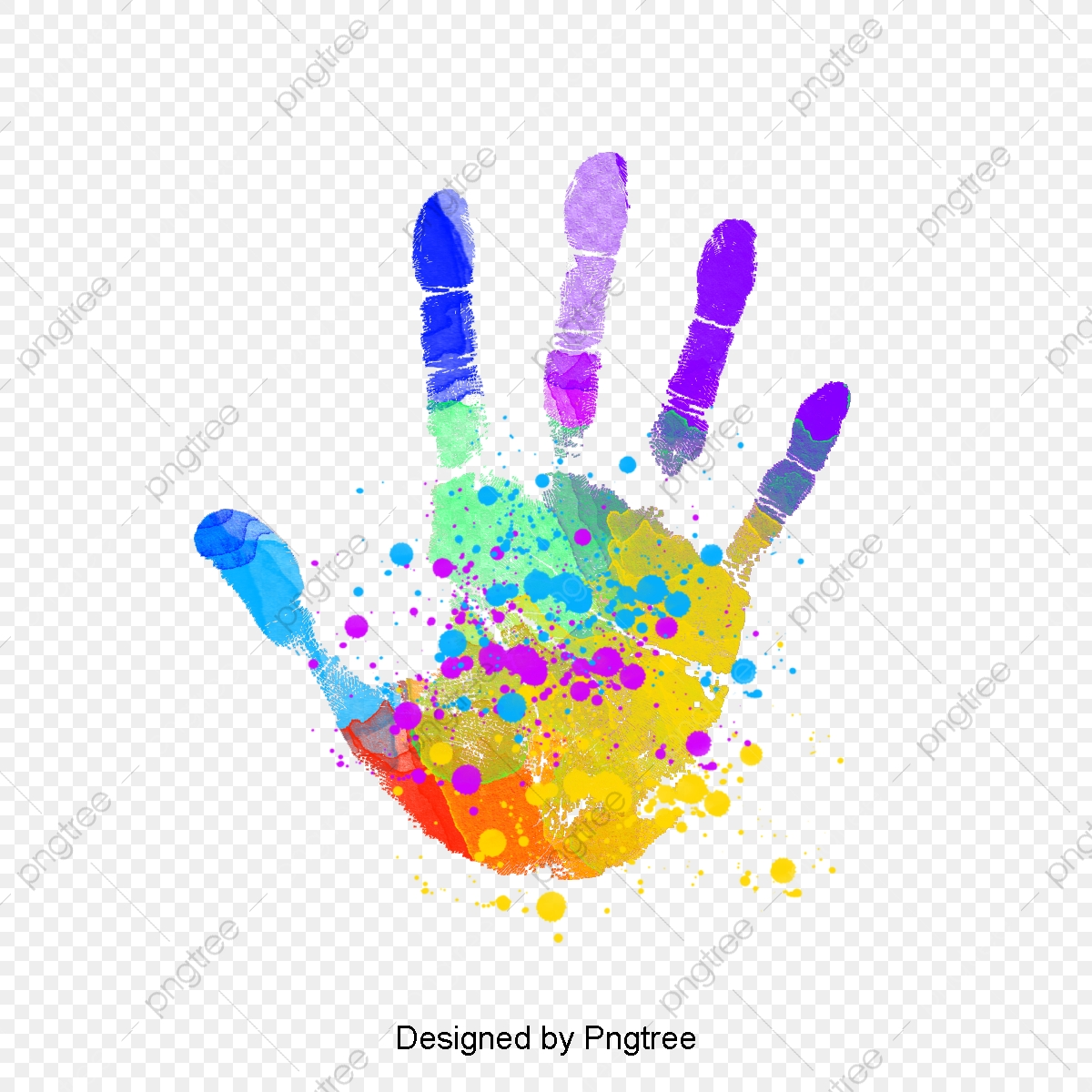 Handprint, Graffiti, Color Splash PNG Transparent Clipart
