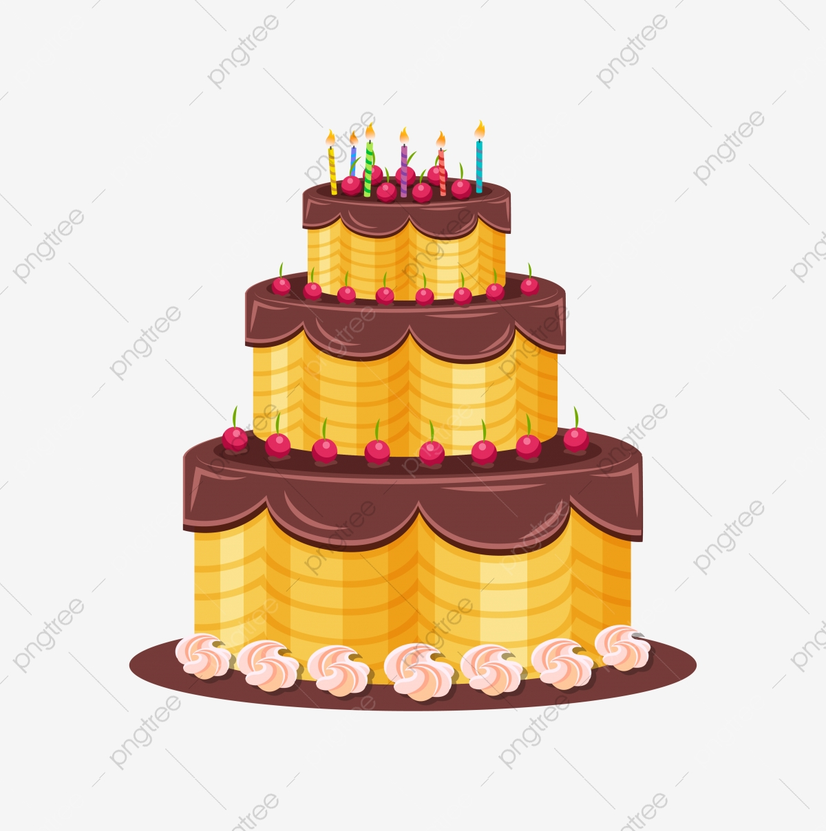 Happy Birthday Cake Clipart PNG