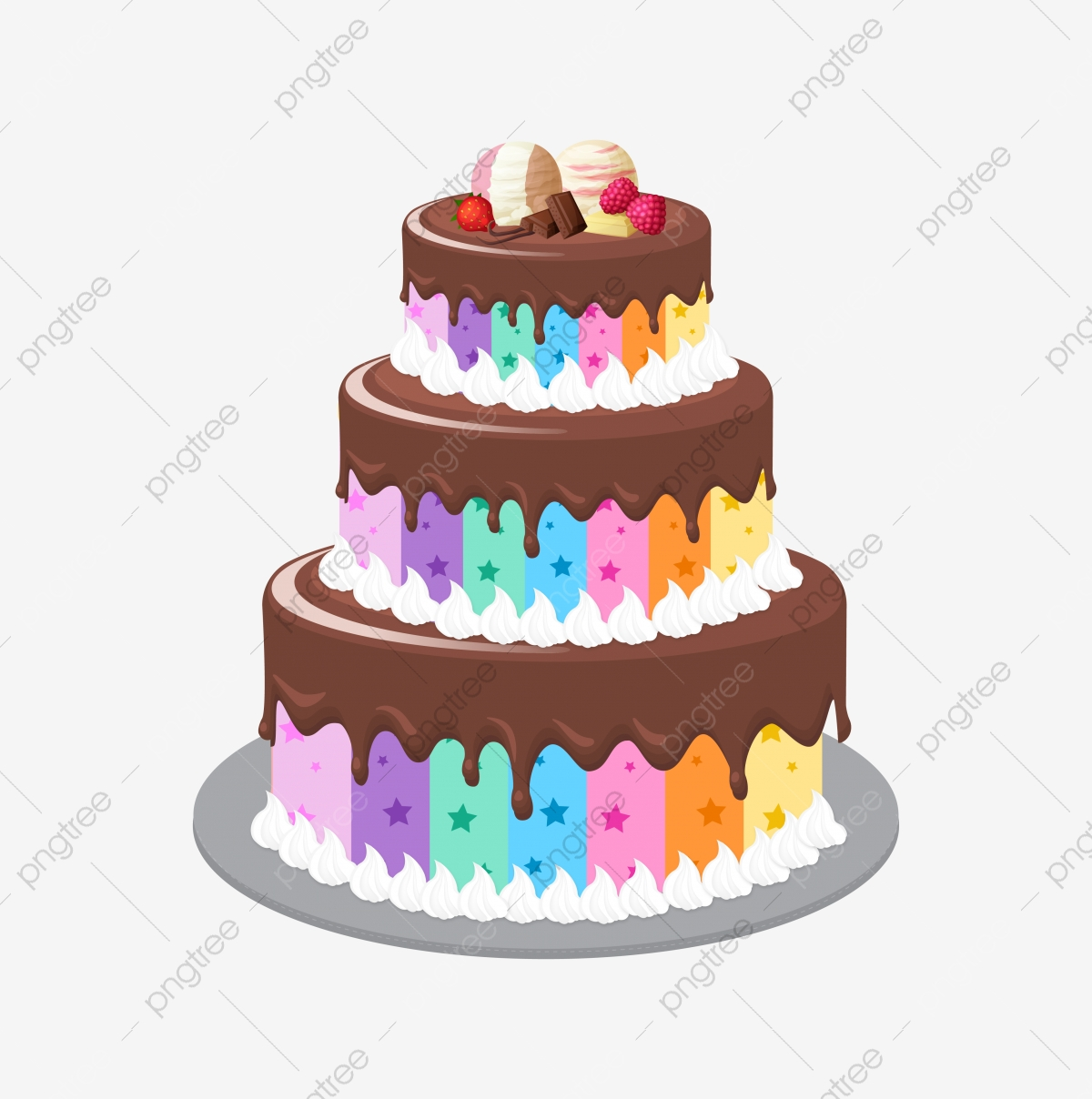 Happy Birthday Clipart Cake PNG Transparent