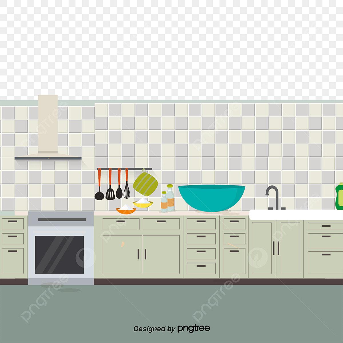 Cocina Cocina El Diseño De La Cocina Refrigerador PNG y Vector para ...