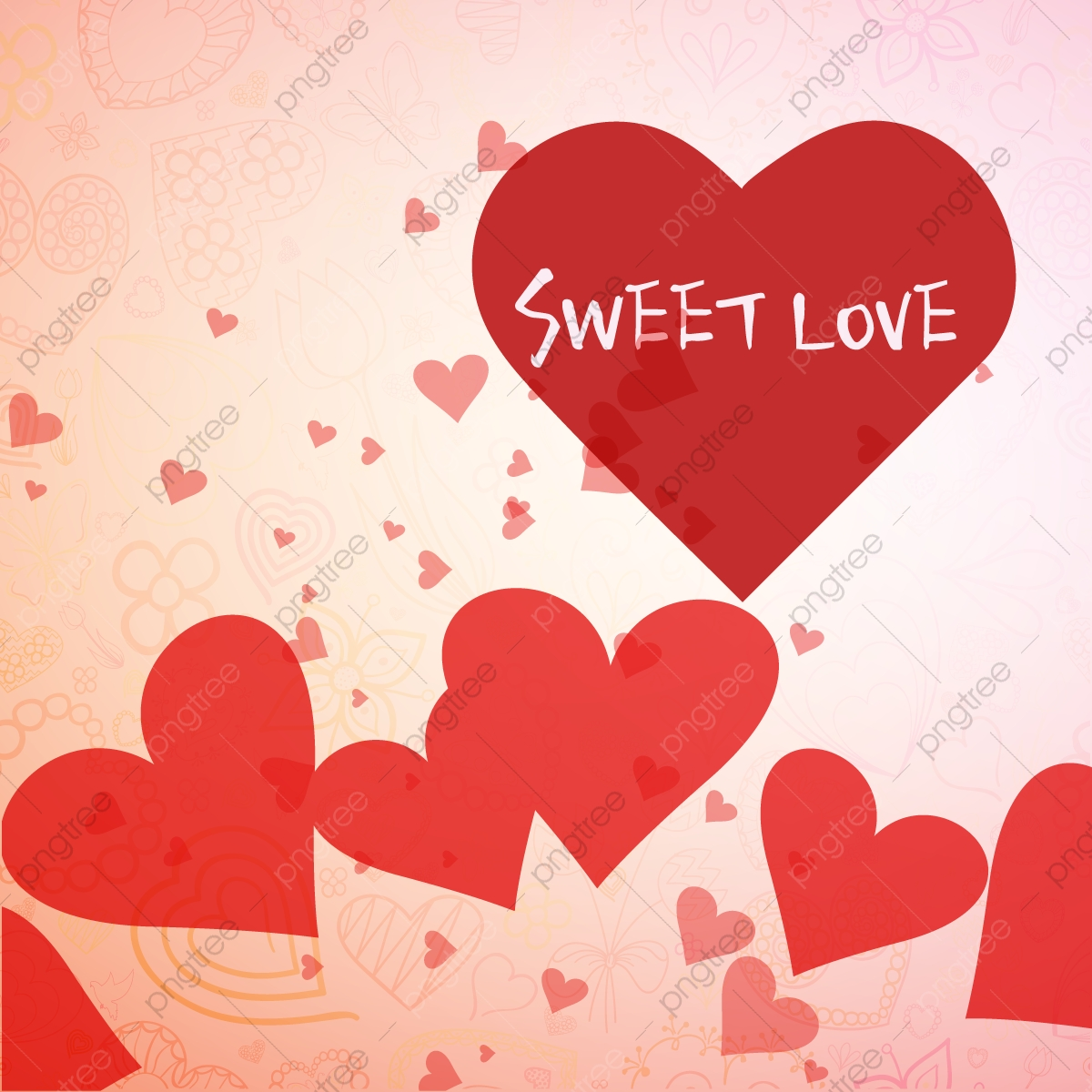 Love Wedding Background Poster Material Pink Love Poster