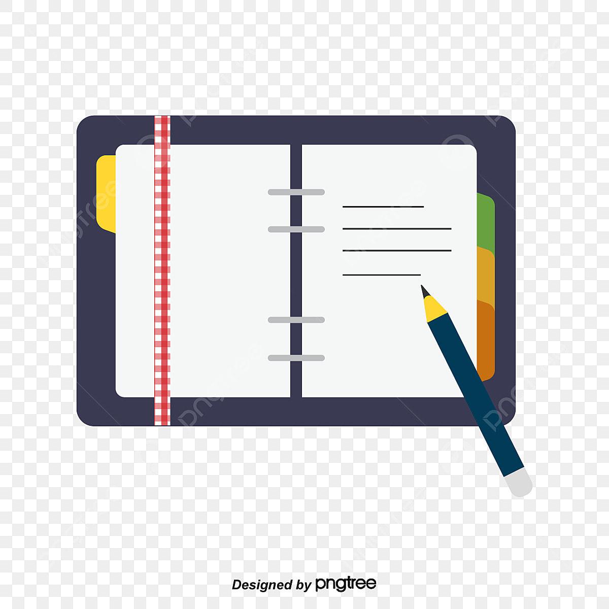 carnet et un stylo carnet bloc notes stylo png et vecteur