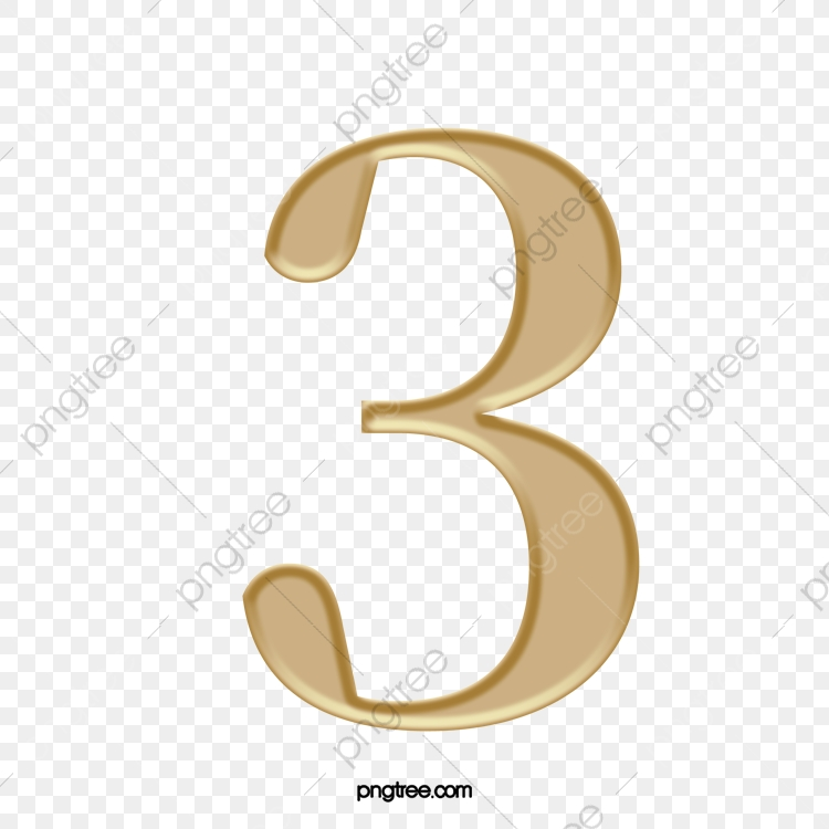 Number 3, Number Clipart, Symbol, Punctuation PNG Transparent Image
