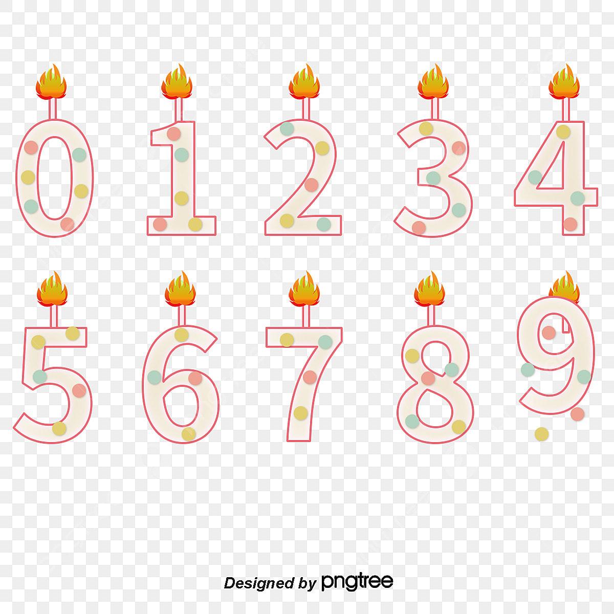 nombre de bougies bougie nombre de bougies jolie bougie fichier png et psd pour le